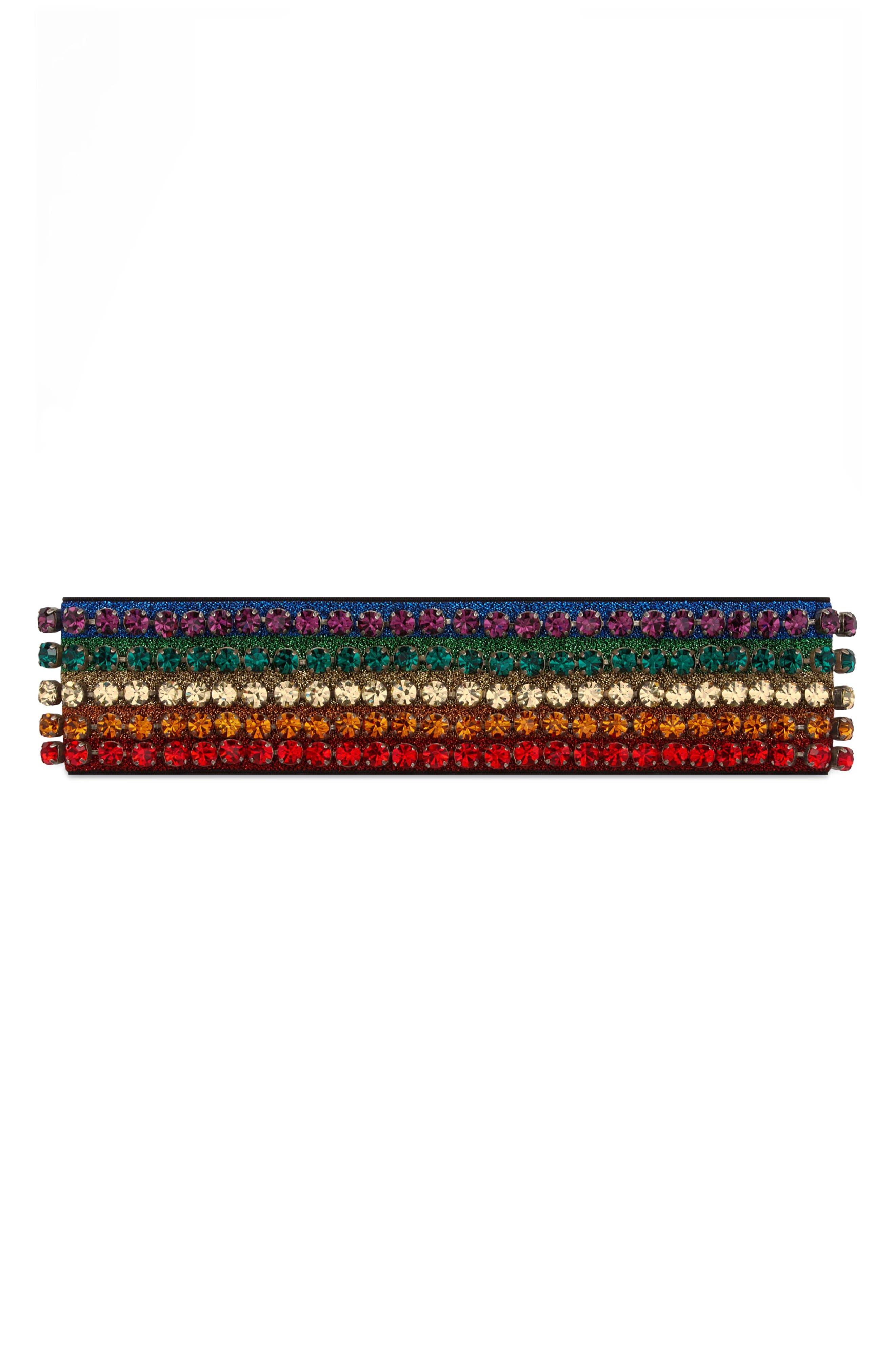 Webby Rainbow Crystal Headband,                             Alternate thumbnail 4, color,