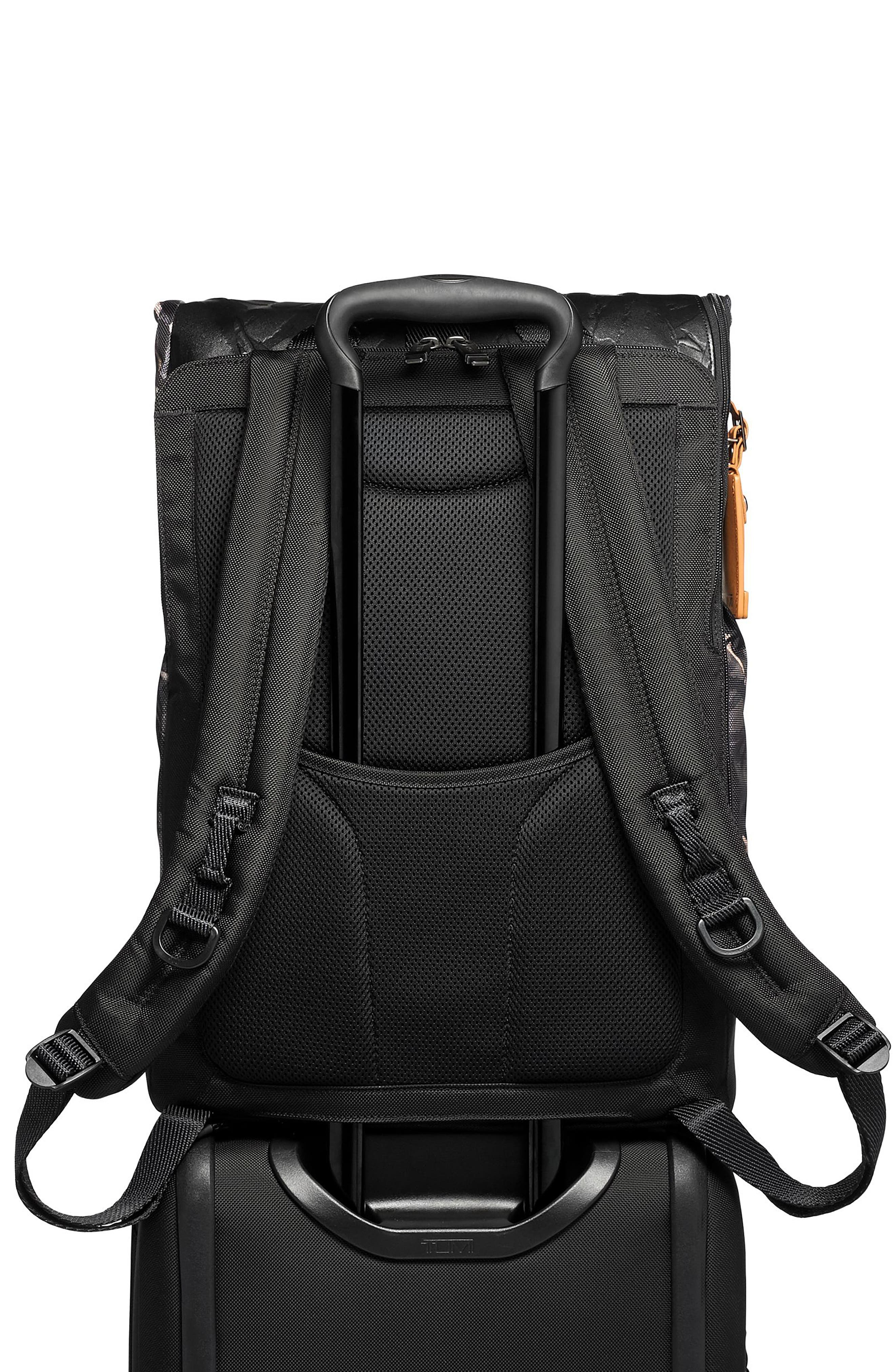 TUMI,                             Alpha Bravo London Backpack,                             Alternate thumbnail 5, color,                             GREY HIGHLANDS PRINT