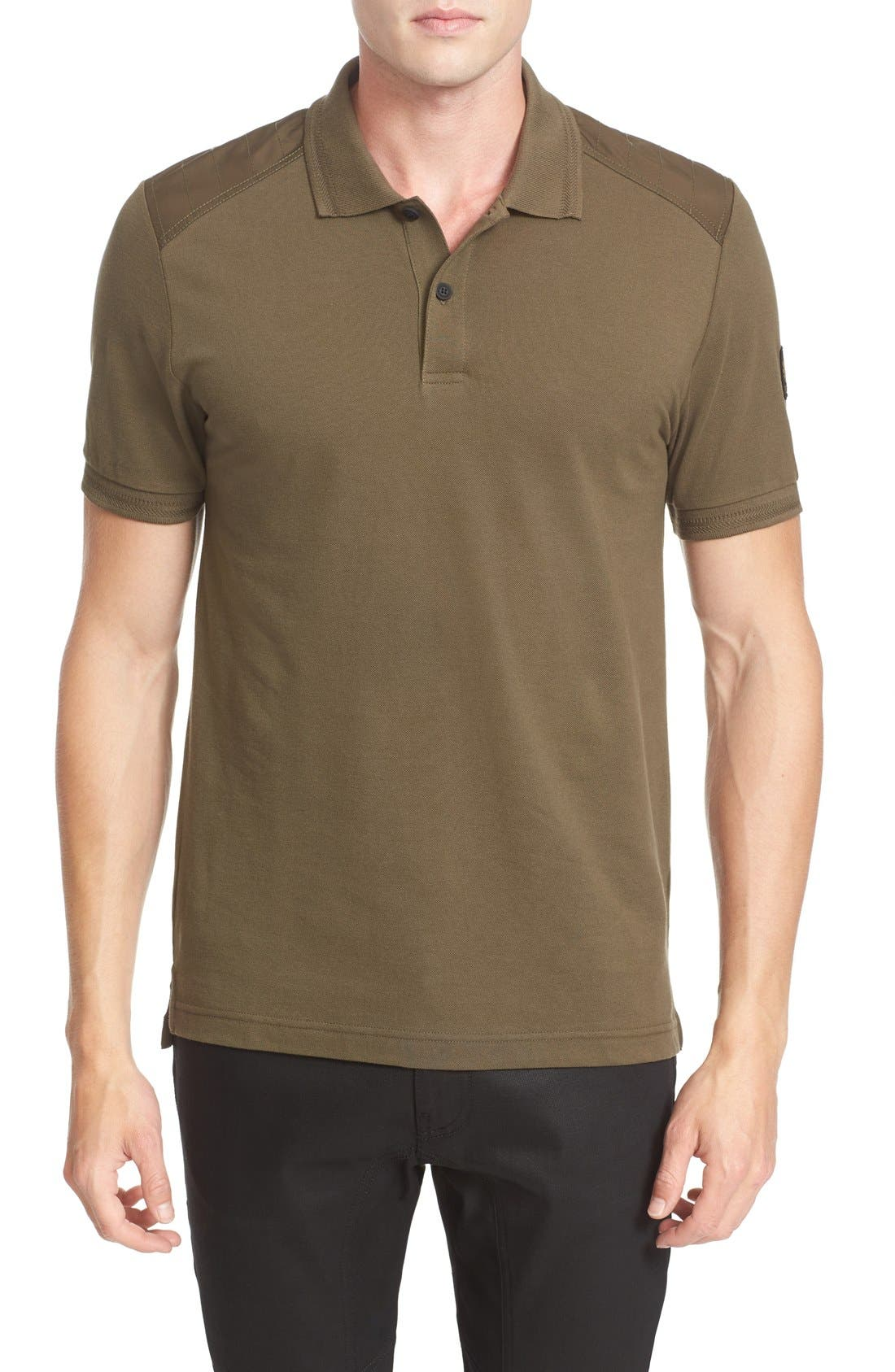 HItchin Extra Trim Fit Piqué Polo,                             Main thumbnail 1, color,