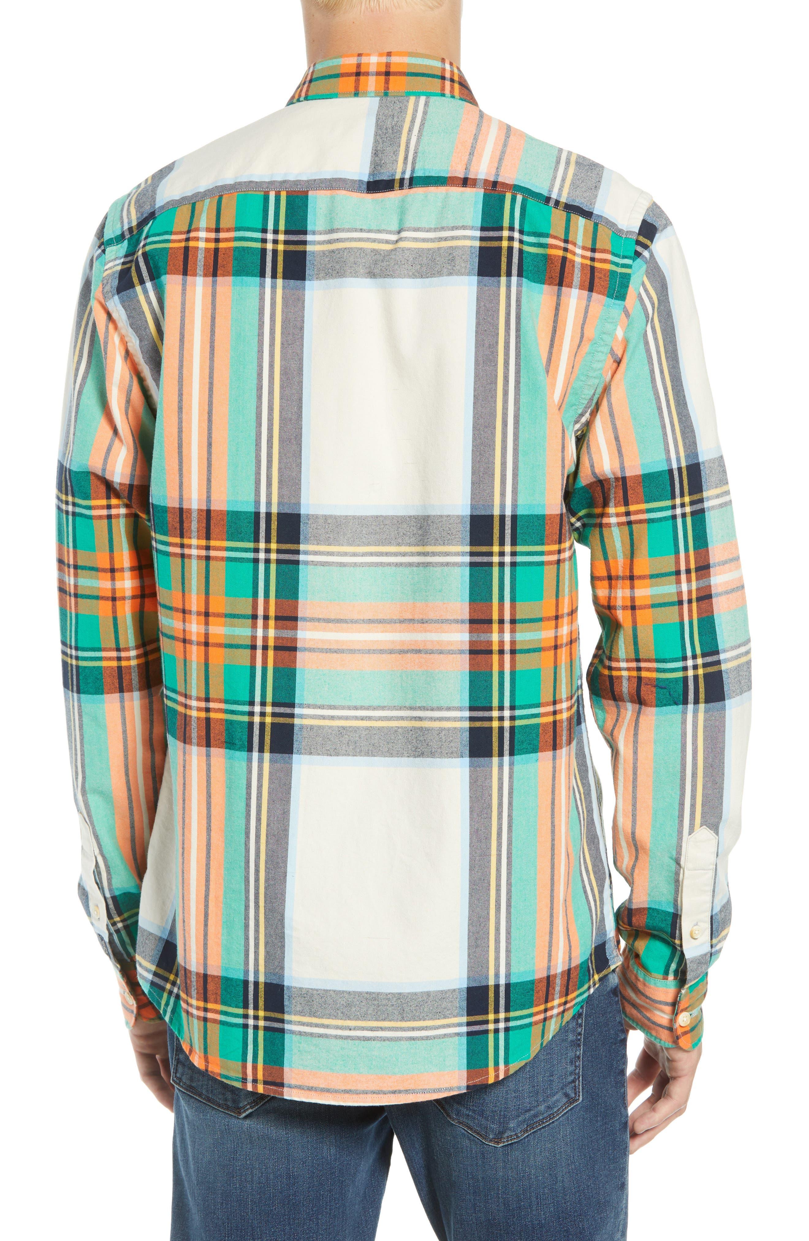 Plaid Flannel Shirt,                             Alternate thumbnail 3, color,                             COMBO D