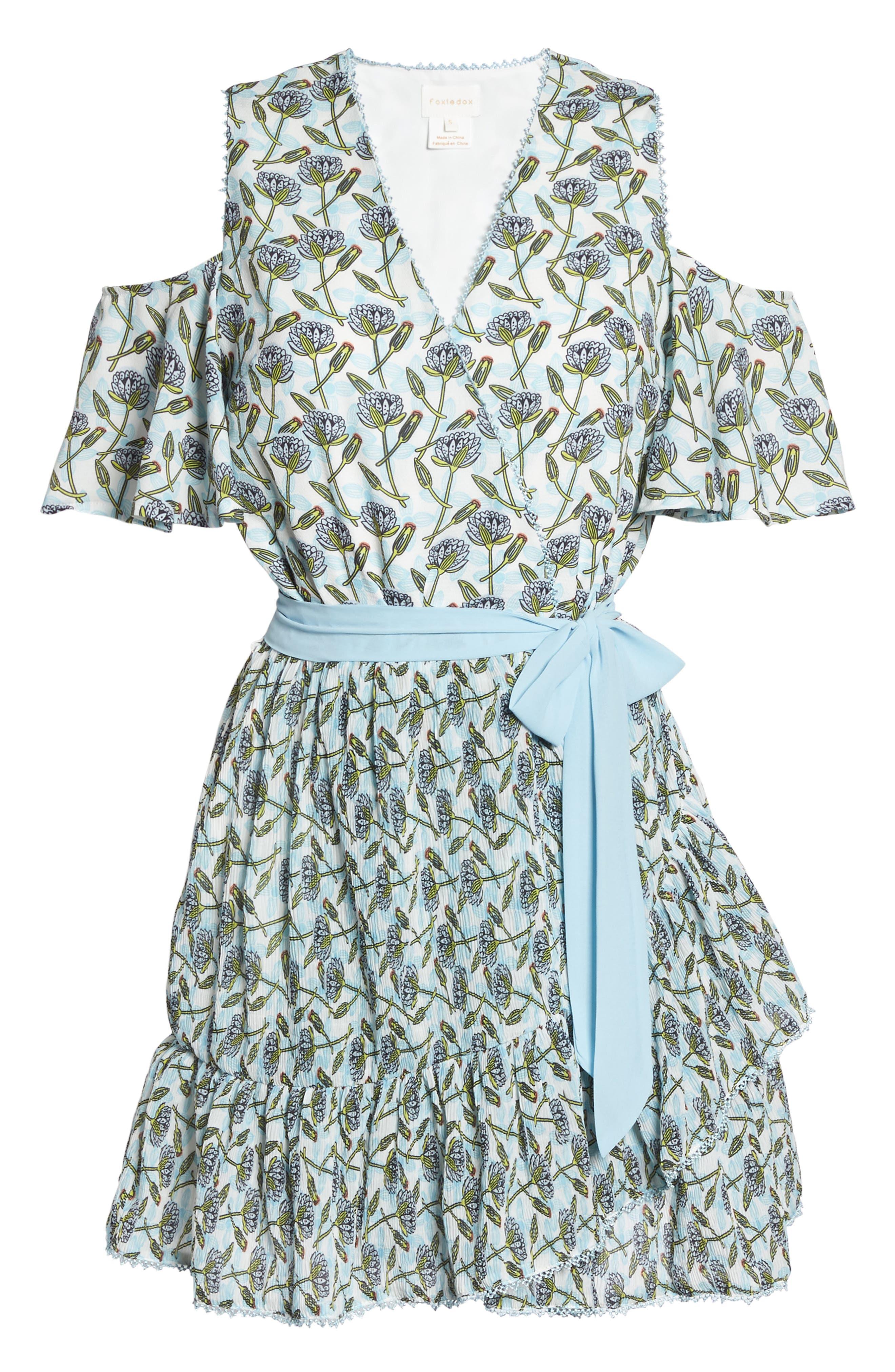 Lexie Cold Shoulder Wrap Dress,                             Alternate thumbnail 6, color,                             400