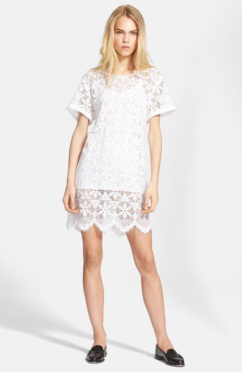 Frame Denim Le Boyfriend Lace T Shirt Dress Nordstrom