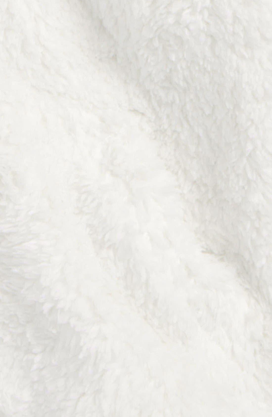 Furry Friends Fleece Hoodie,                             Alternate thumbnail 2, color,                             BIRCH WHITE