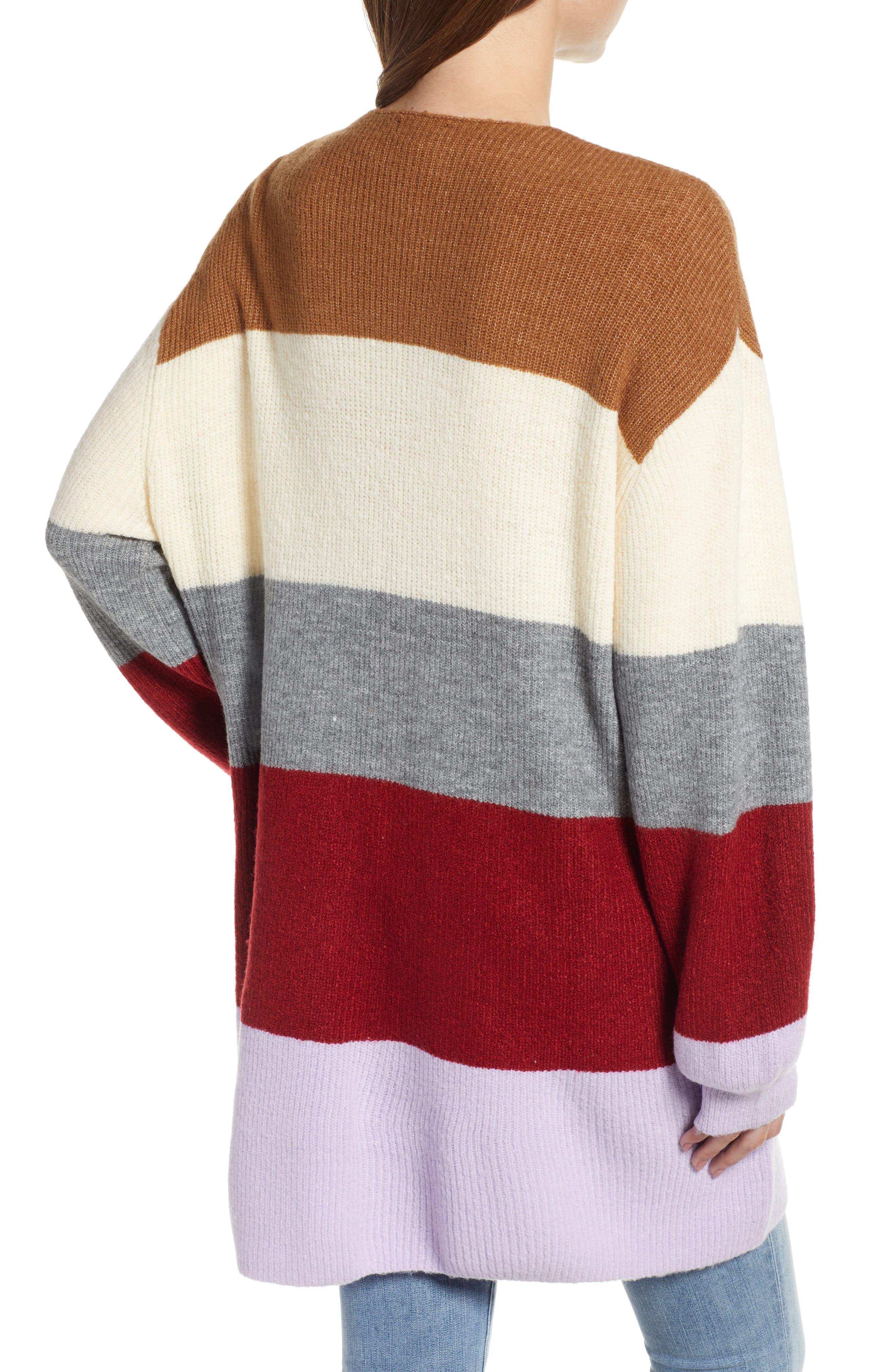 Stripe Cardigan,                             Alternate thumbnail 2, color,                             LAVENDER STRIPE