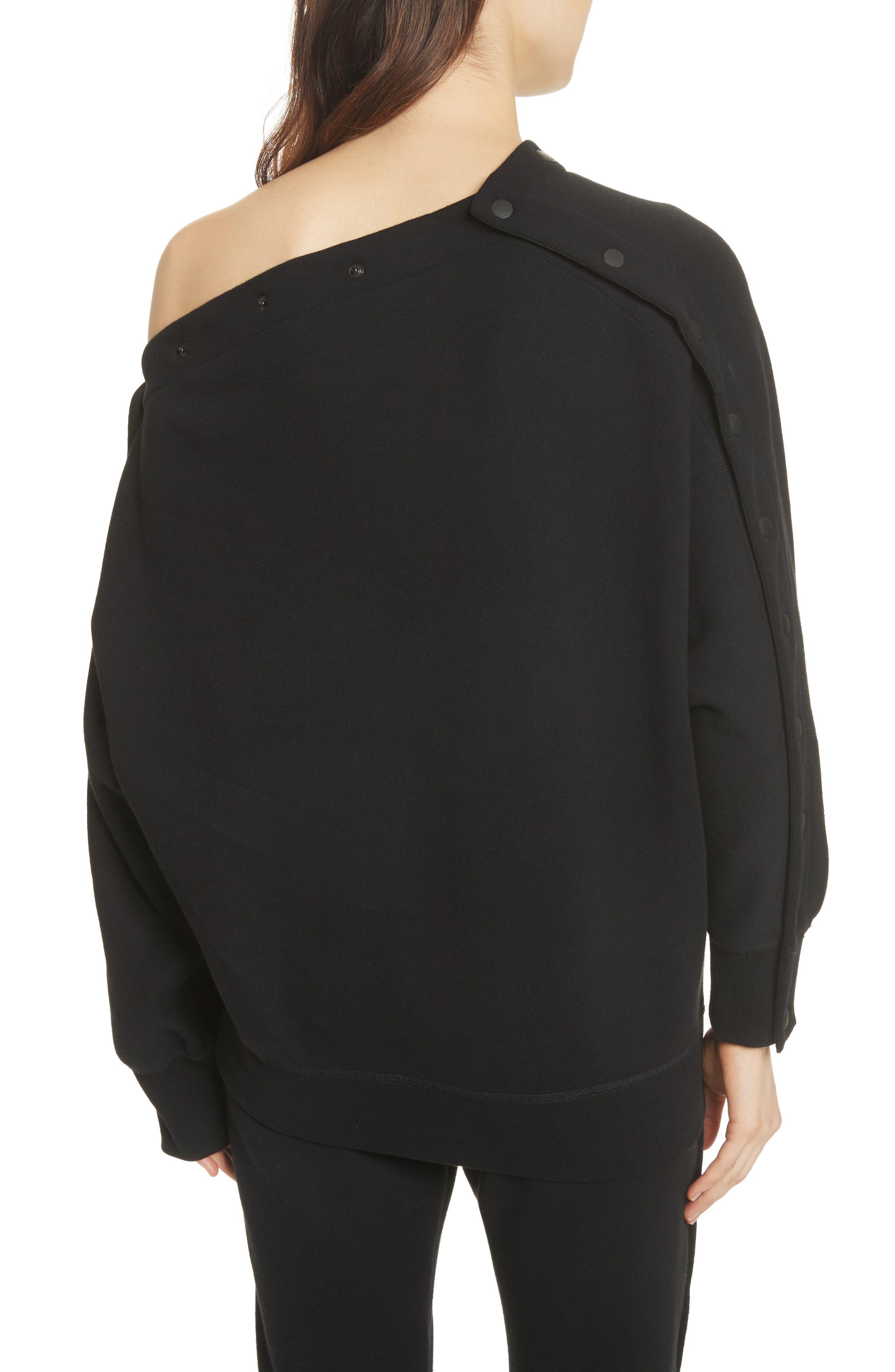 Kate Side Snap Cold Shoulder Sweatshirt,                             Alternate thumbnail 3, color,