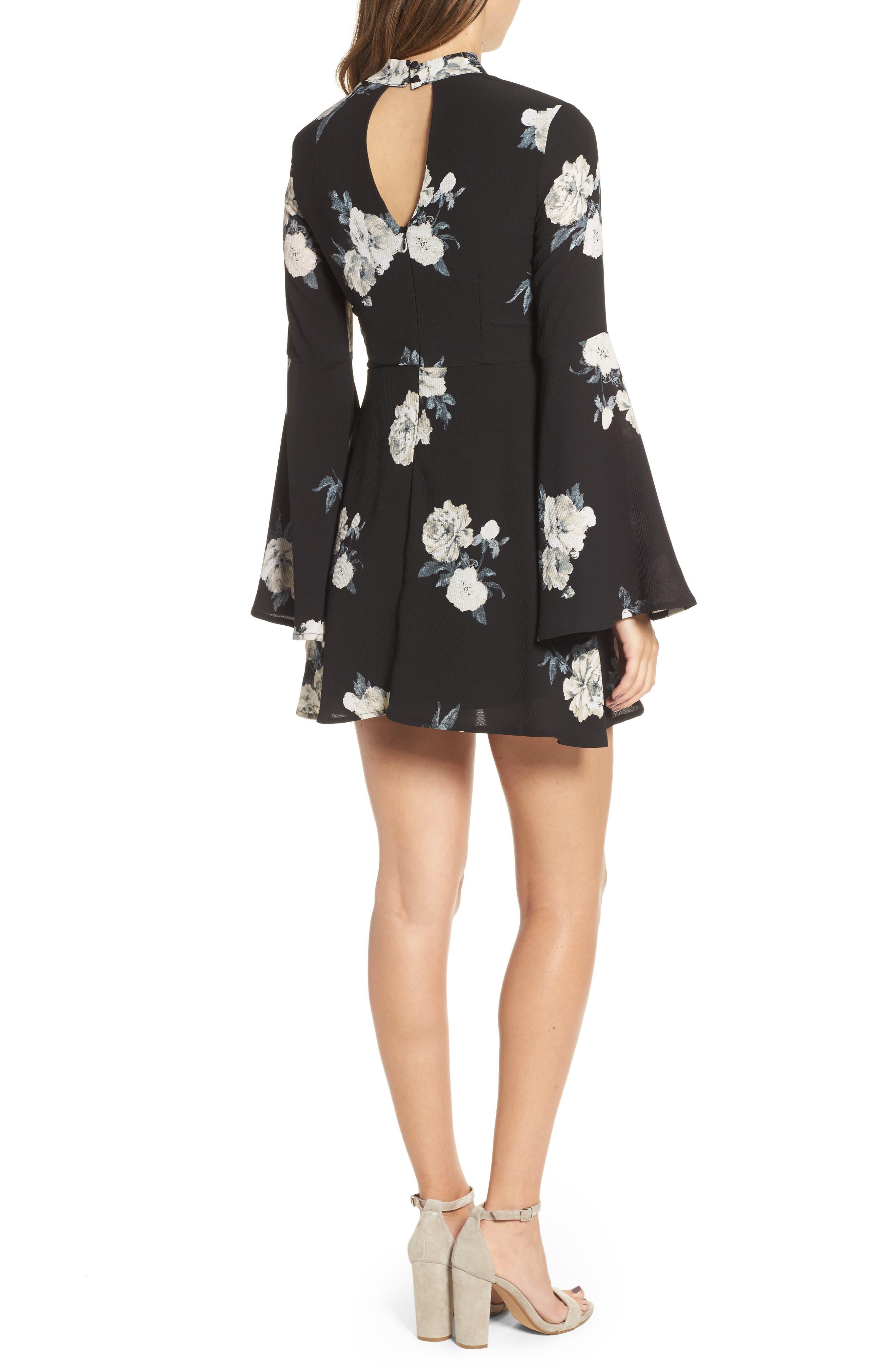 Harper Bell Sleeve Dress,                             Alternate thumbnail 2, color,                             001