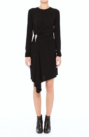 Ruched Side Drape Jersey Dress, video thumbnail