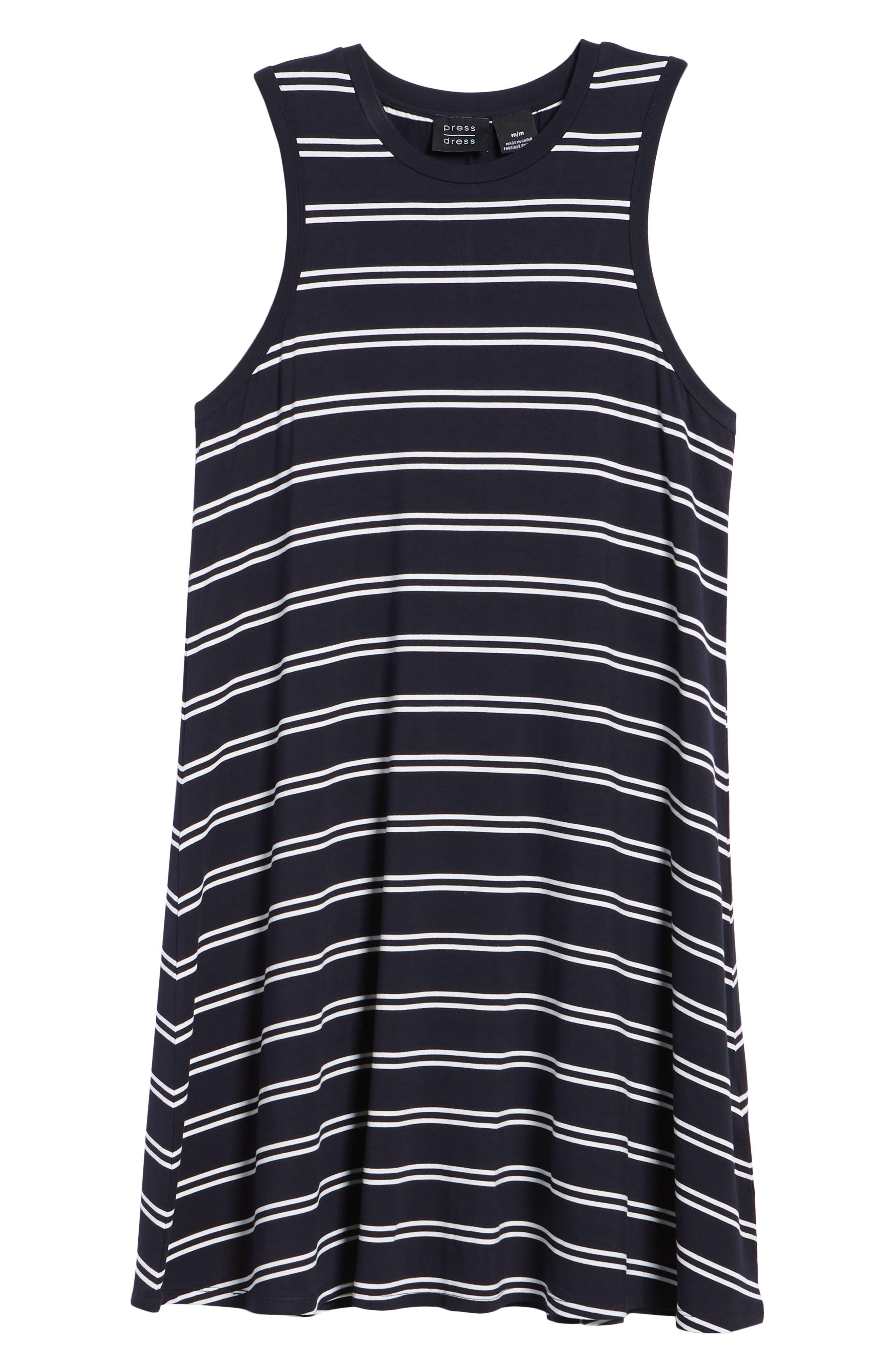 Stripe Tank Dress,                             Alternate thumbnail 7, color,                             410