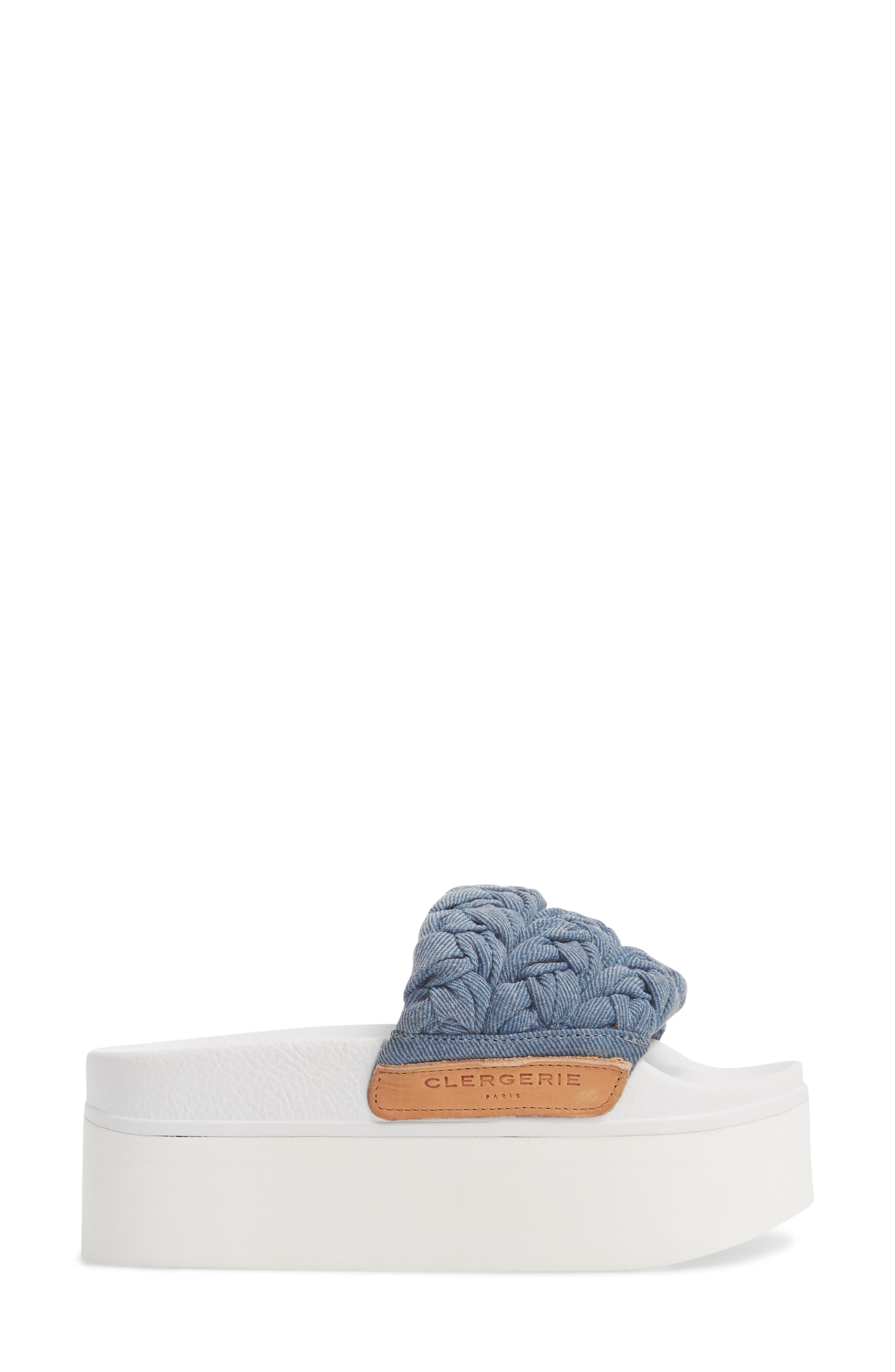 Wallis Platform Slide Sandal,                             Alternate thumbnail 3, color,                             400