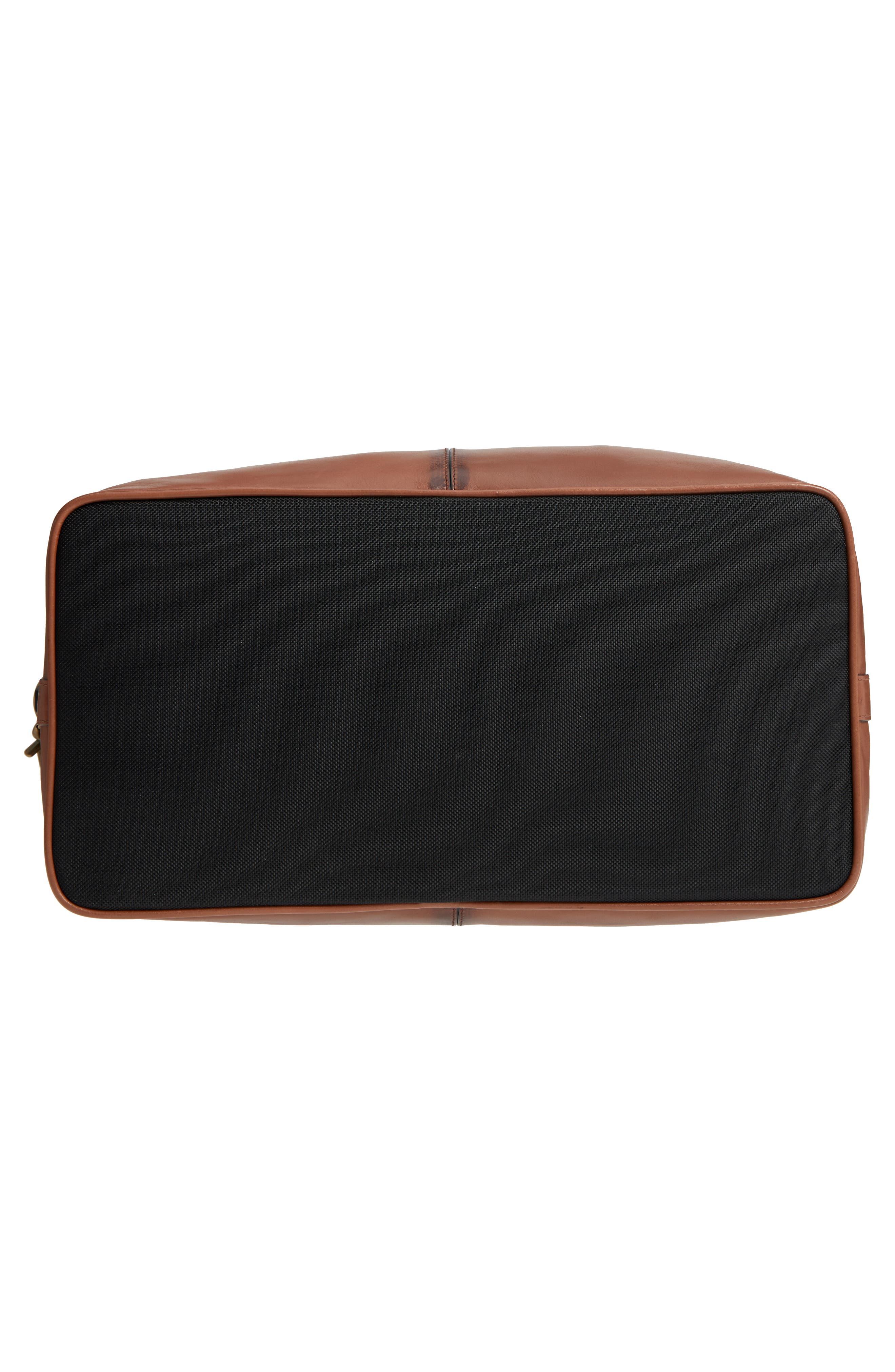 Heritage Leather Duffel Bag,                             Alternate thumbnail 6, color,                             200