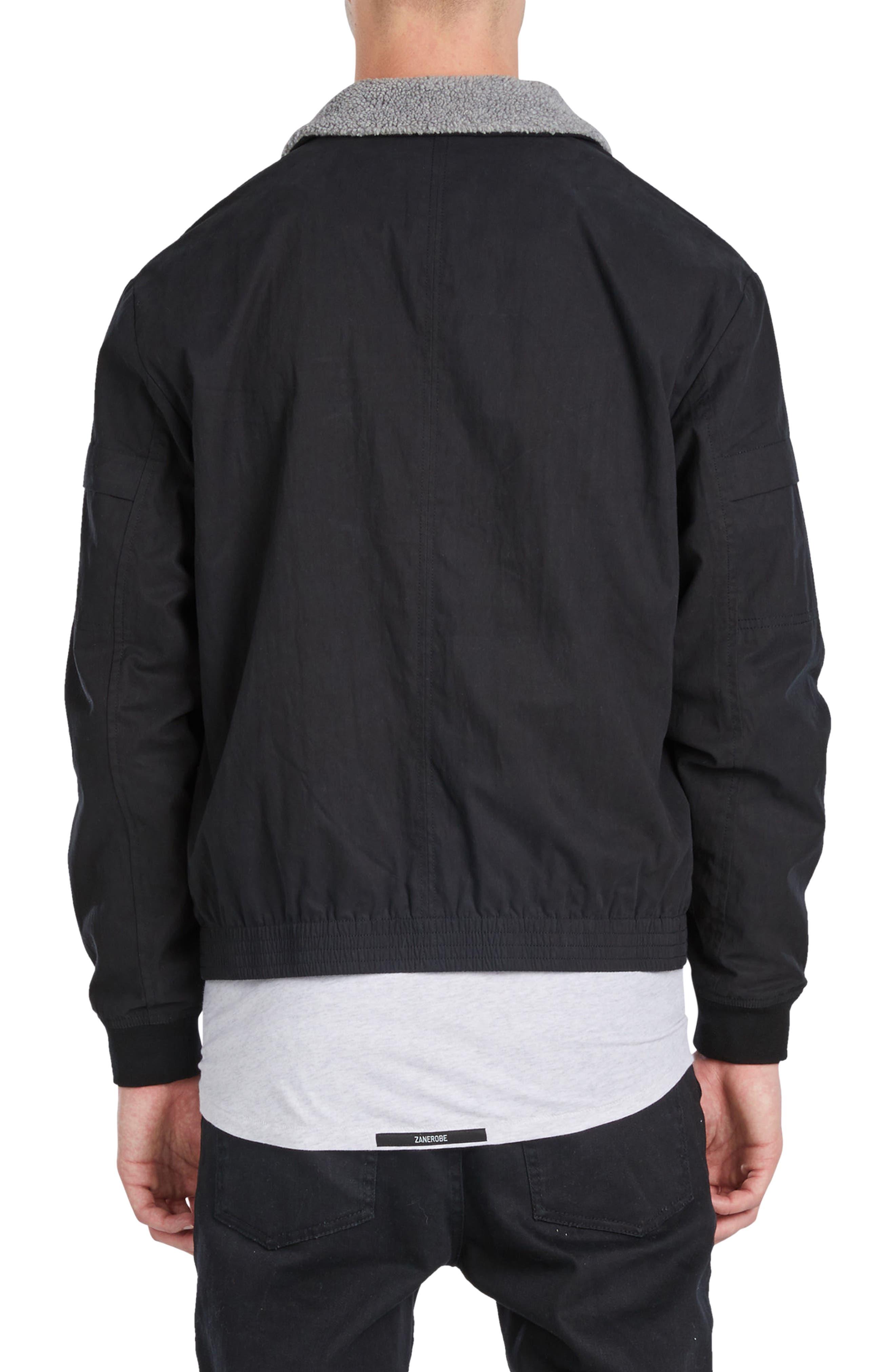 Sherpa Windbreaker Jacket,                             Alternate thumbnail 2, color,                             001