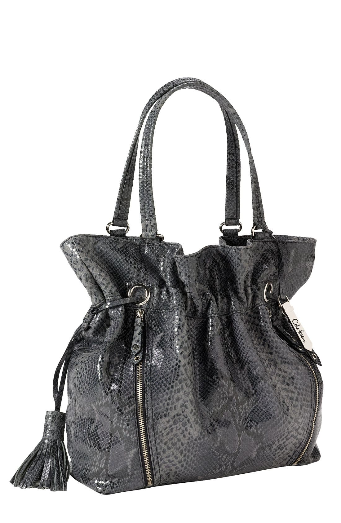 'Bailey' Pebbled Leather Drawstring Tote,                             Main thumbnail 2, color,