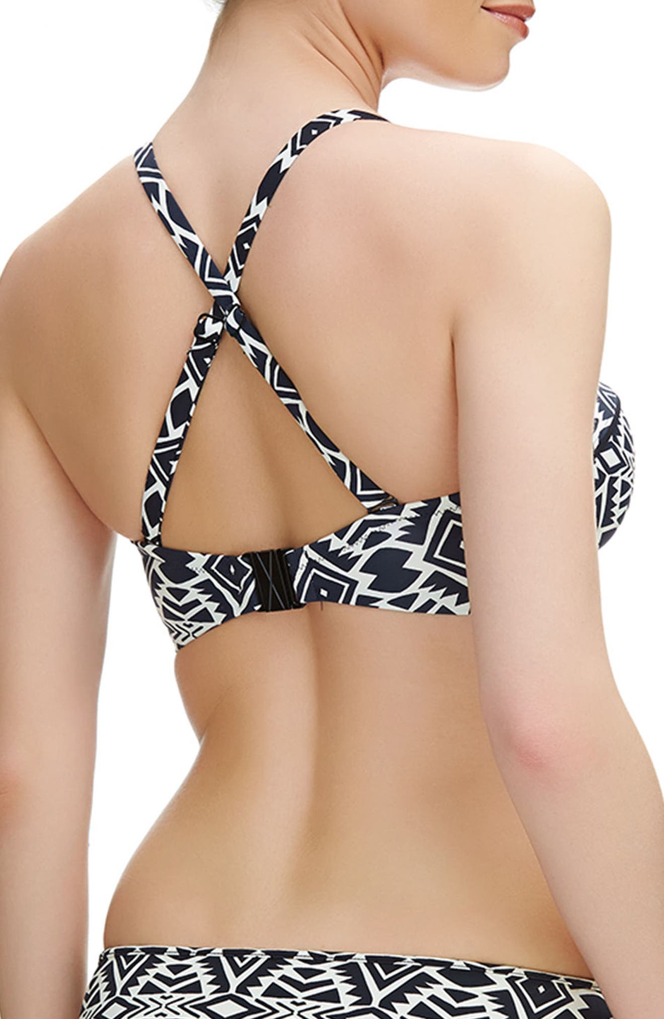 Beqa Underwire Bandeau Bikini Top,                             Alternate thumbnail 3, color,                             018