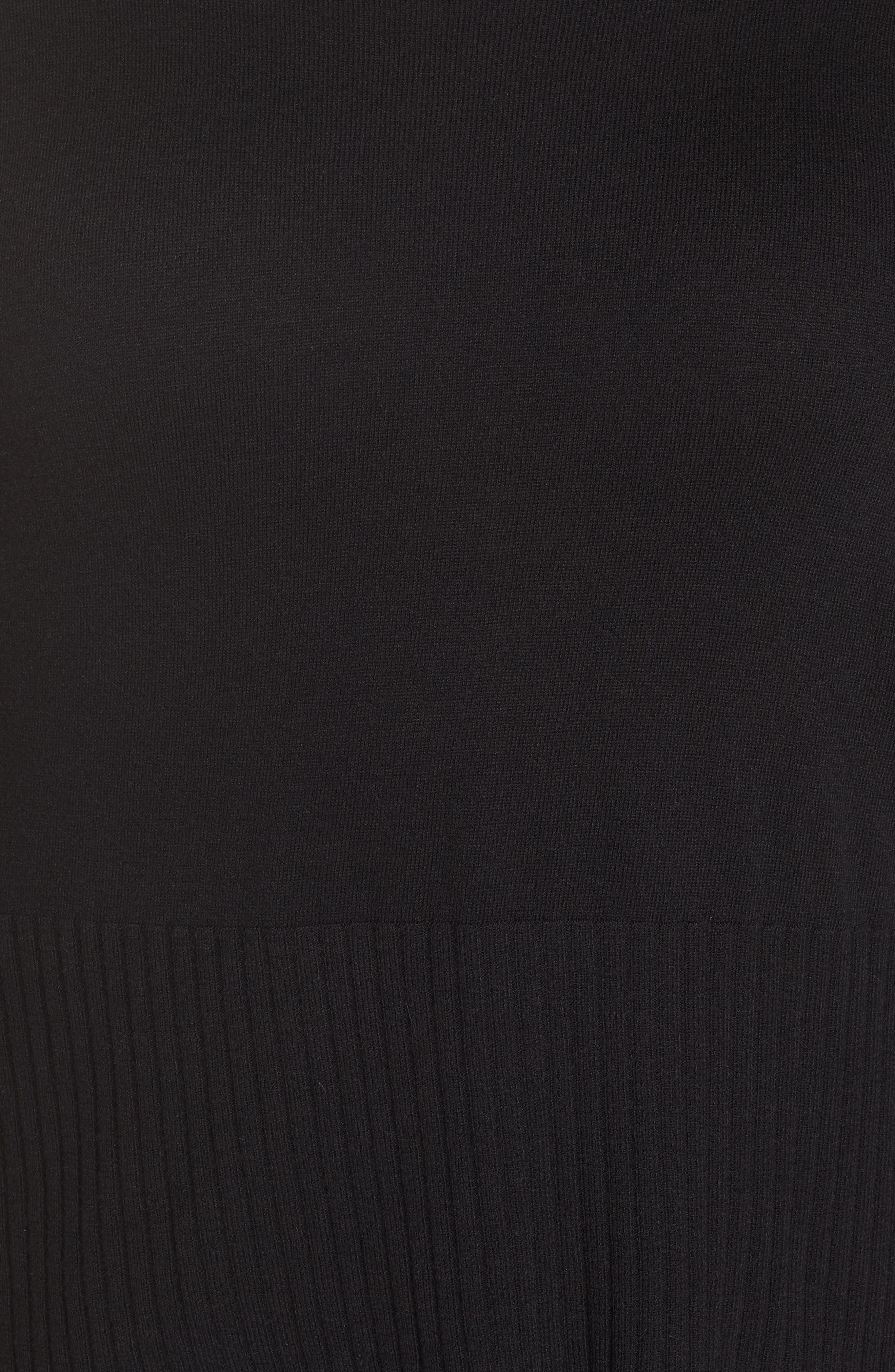 SEJOUR,                             Cowl Neck Pullover,                             Alternate thumbnail 5, color,                             BLACK