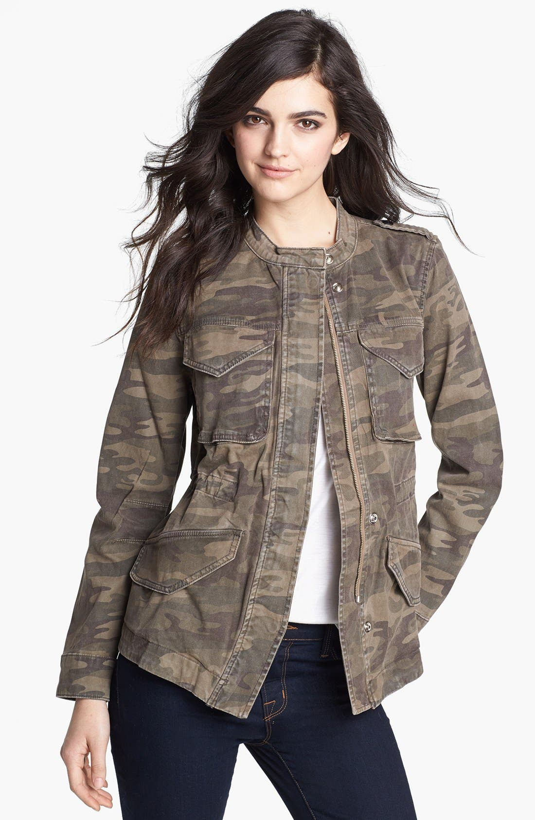 Camouflage Print Jacket,                             Main thumbnail 1, color,                             278