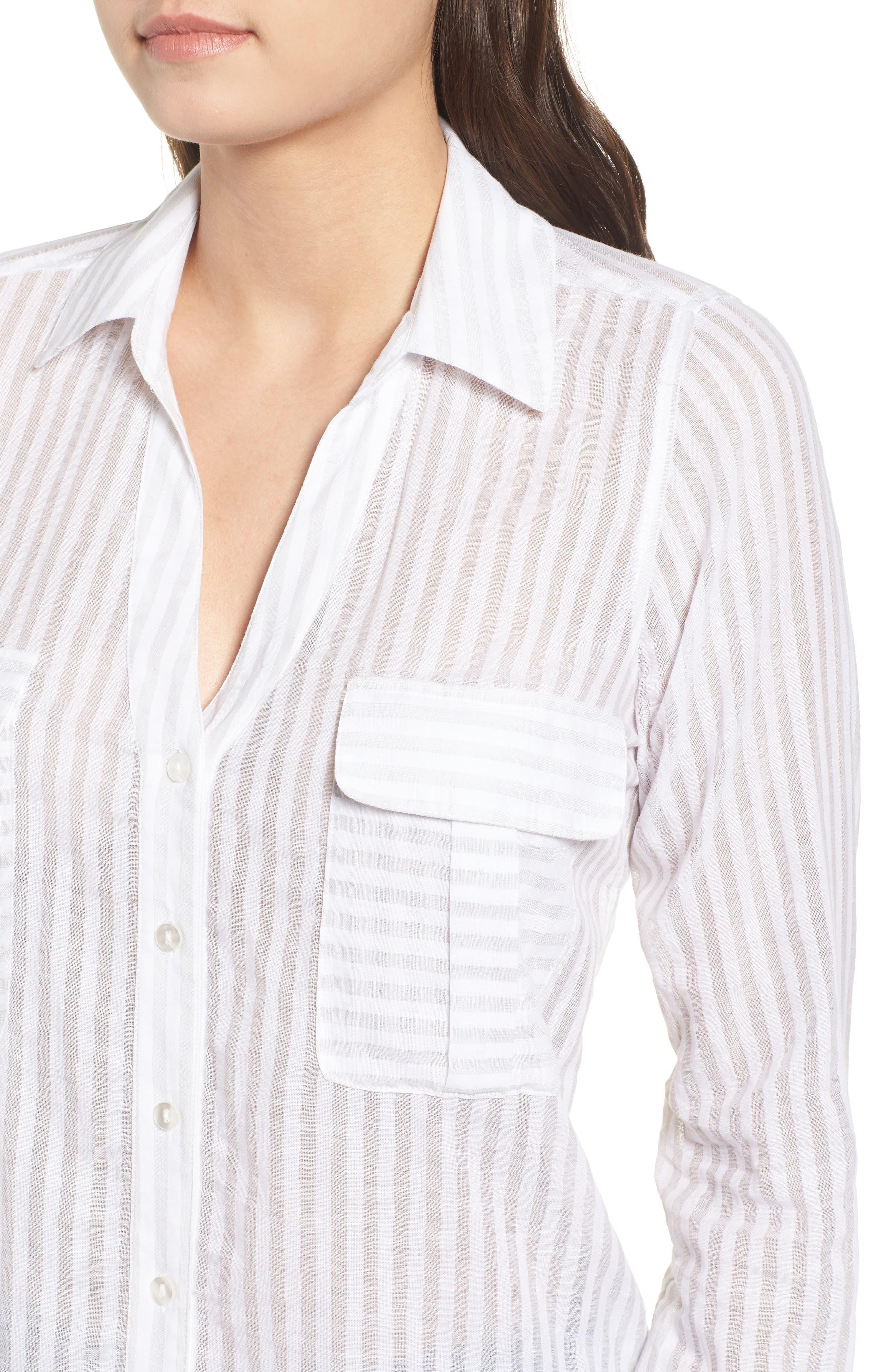 Shadow Stripe Shirt,                             Alternate thumbnail 4, color,                             025