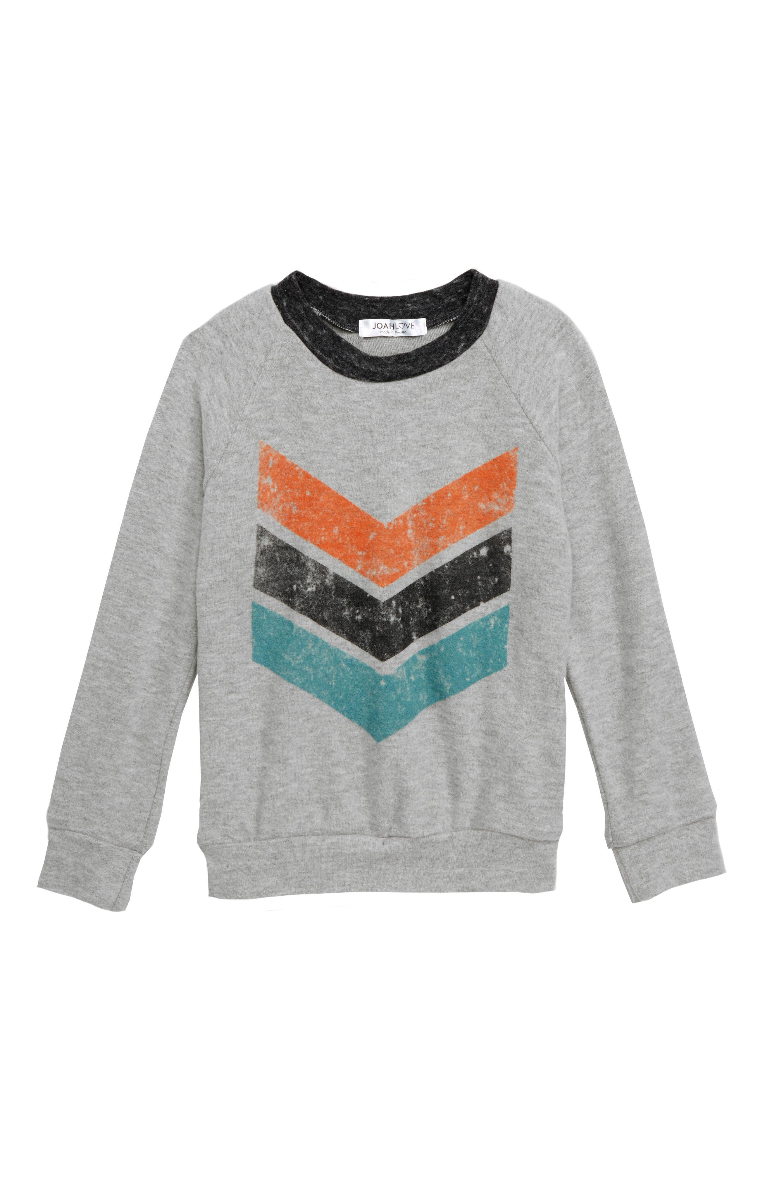 Boys Joah Love Chevron Graphic Sweatshirt