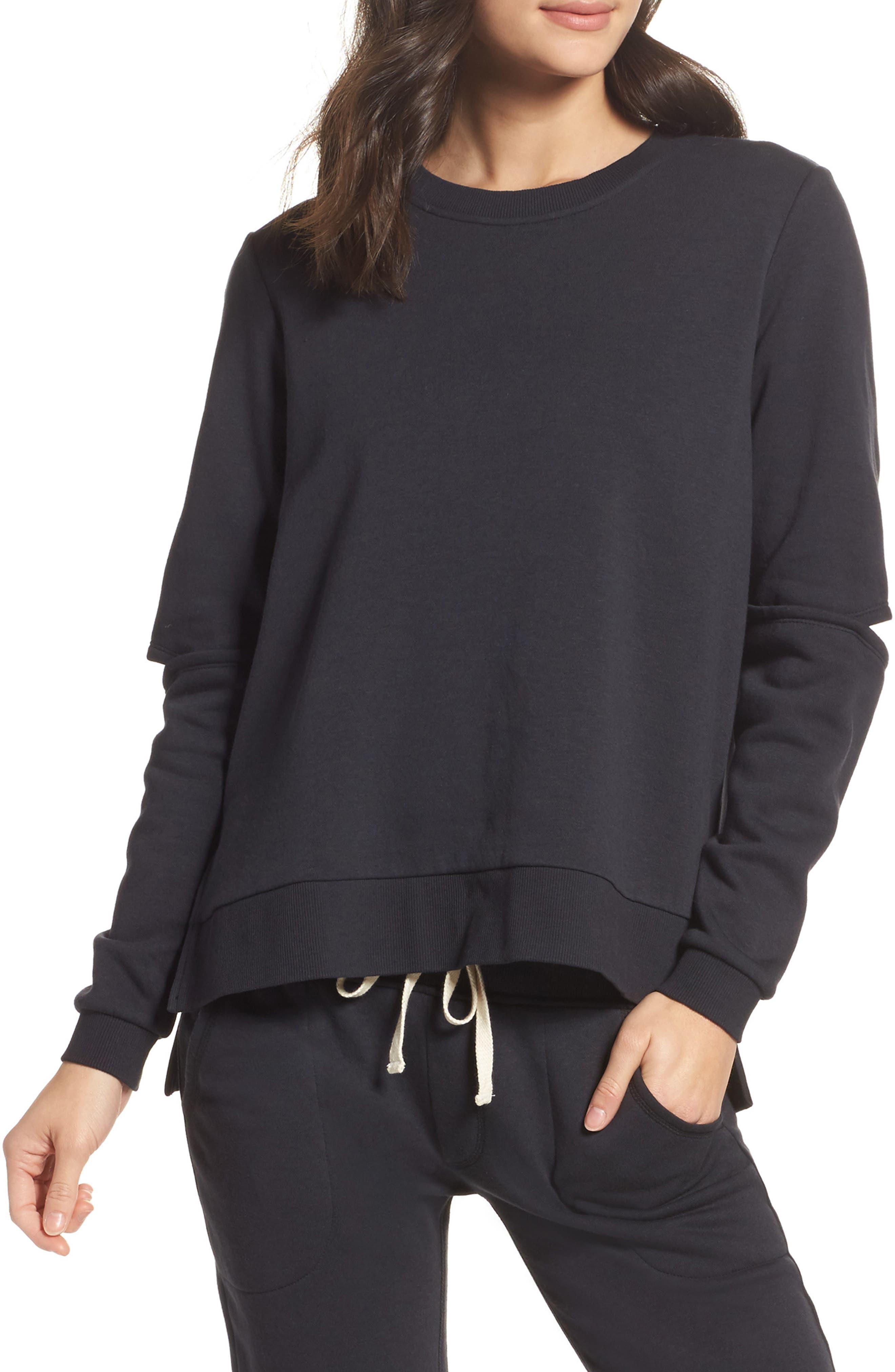 Cutout Sweatshirt,                         Main,                         color, 001