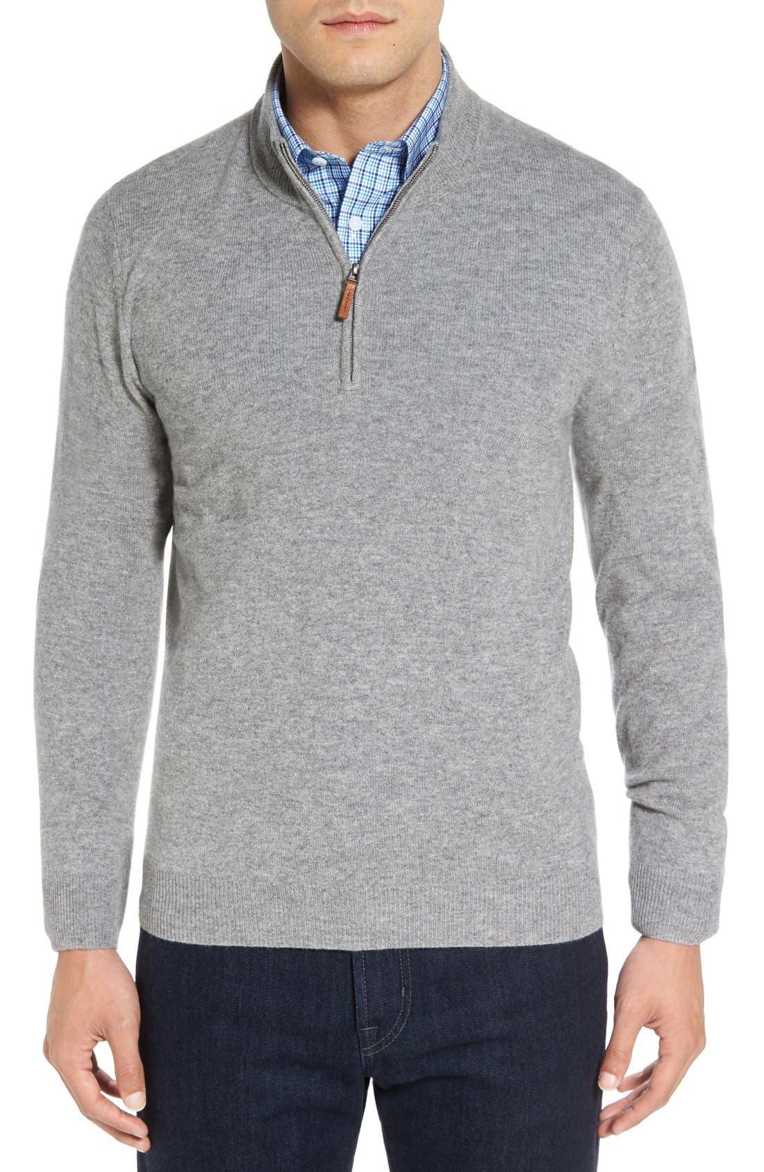 Cashmere Quarter Zip Sweater,                             Main thumbnail 6, color,