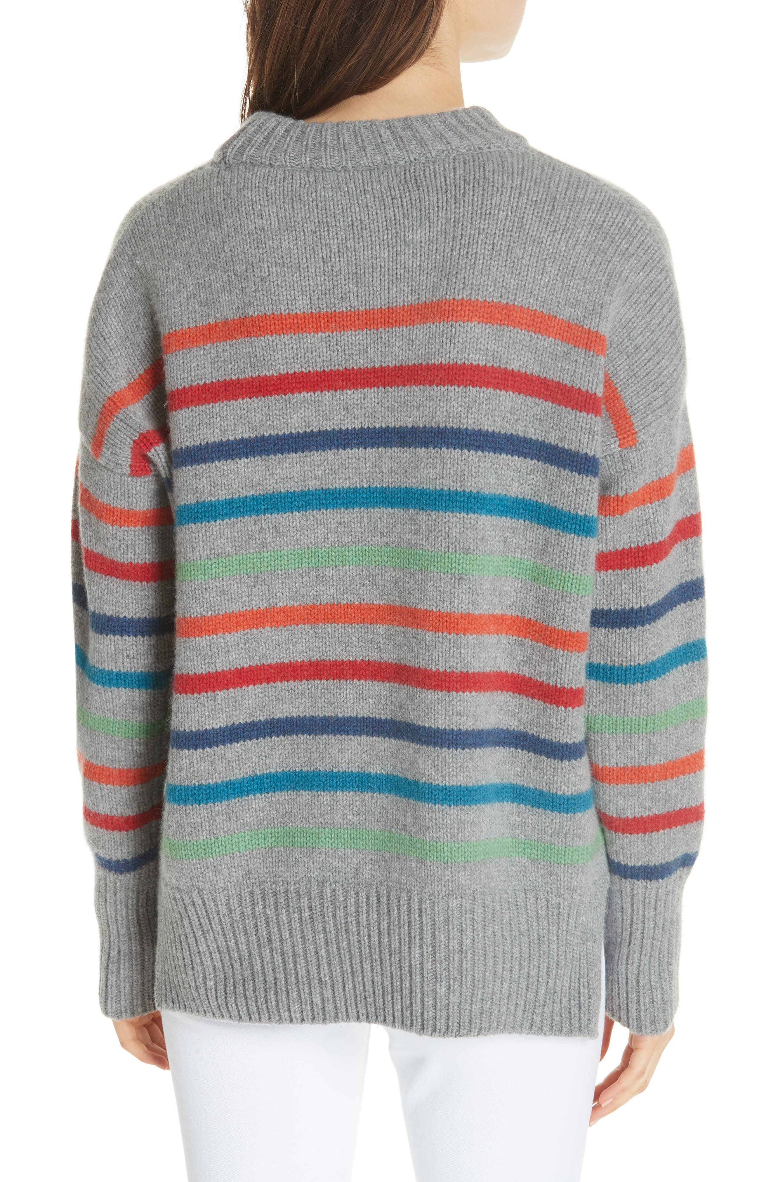 Marin Wool & Cashmere Sweater,                             Alternate thumbnail 2, color,                             RAINBOW STRIPE