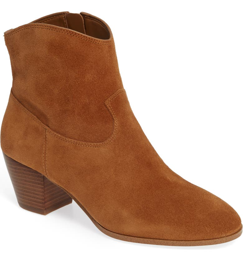 Avery Ankle Boot,                         Main,                         color, ACORN SUEDE