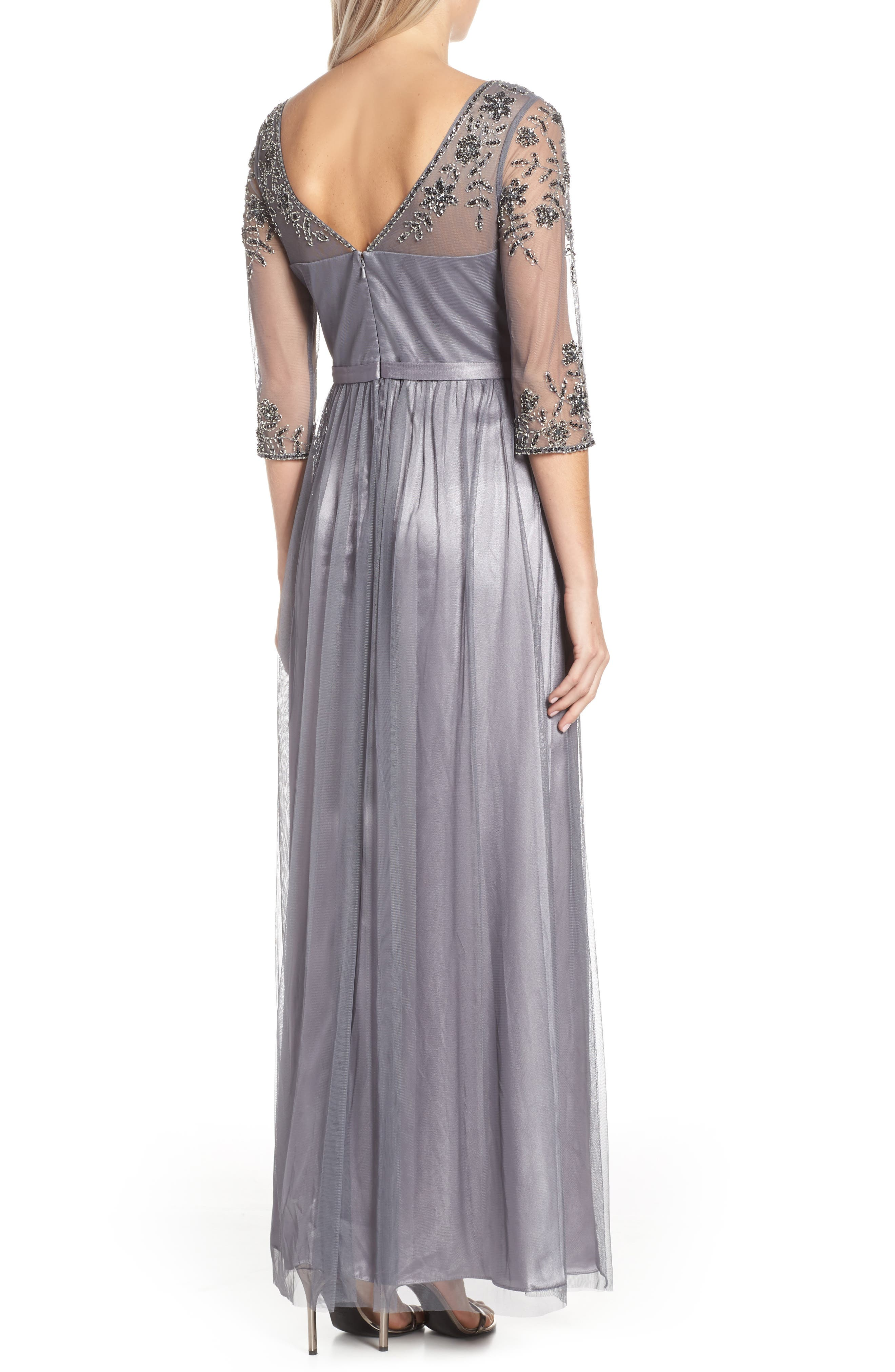 Beaded Lace Gown,                             Alternate thumbnail 2, color,                             021