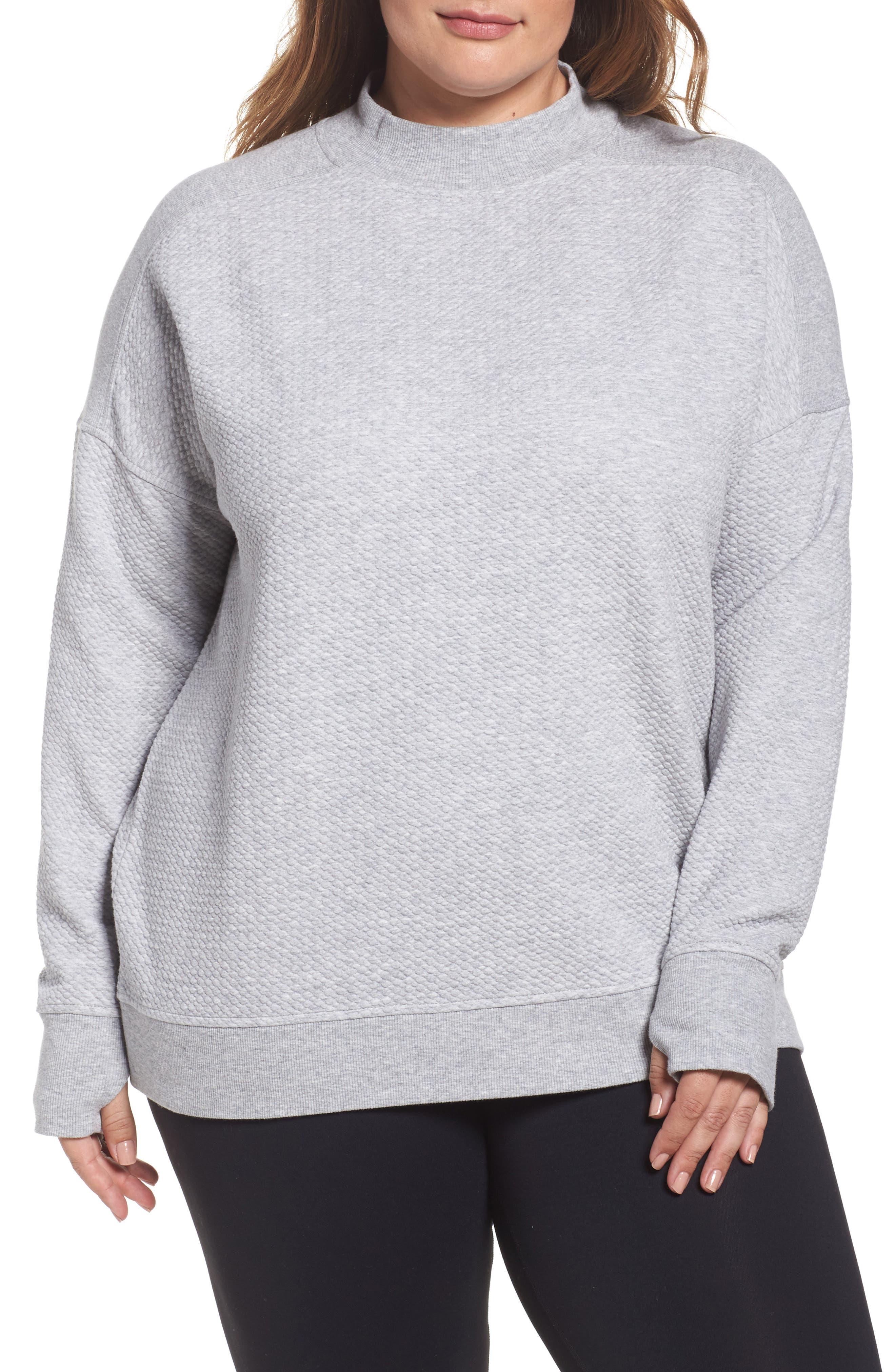 Textured Sweatshirt,                             Main thumbnail 1, color,                             050