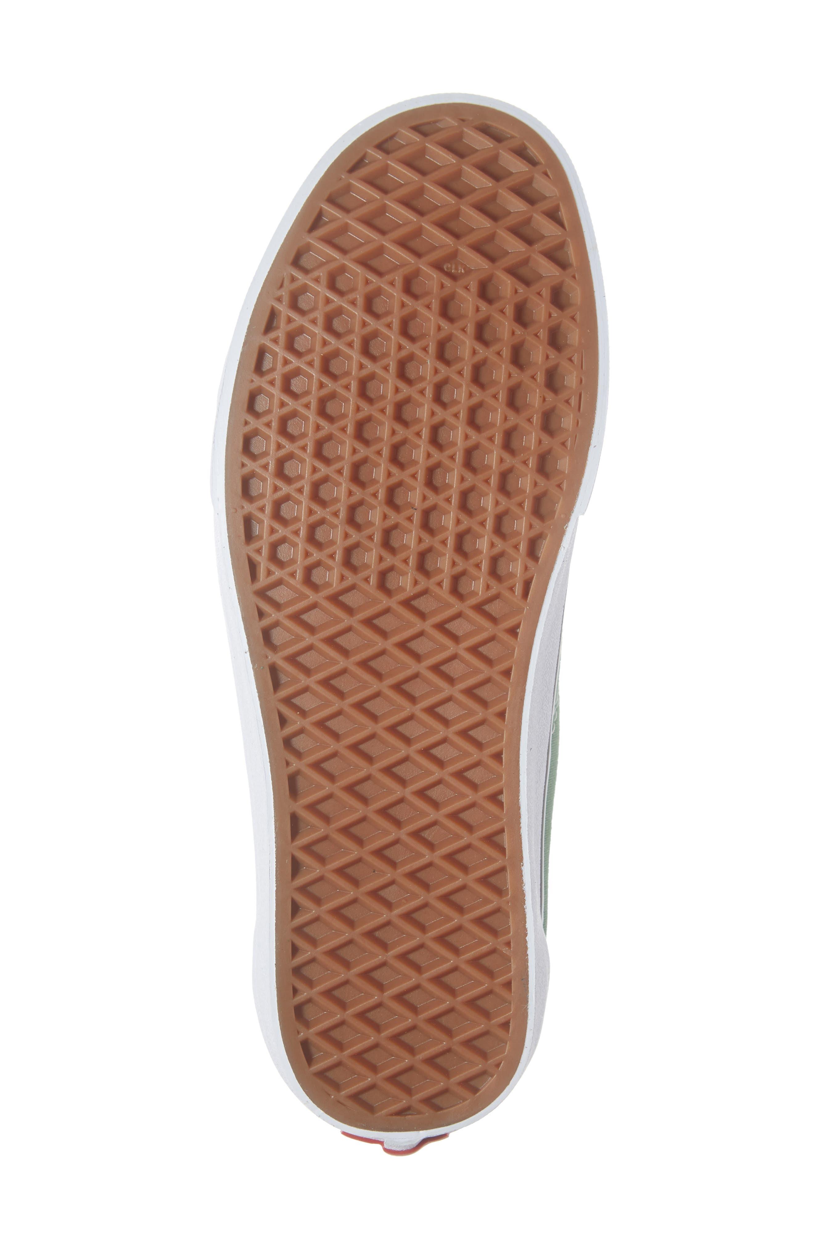 'Old Skool' Sneaker,                             Alternate thumbnail 6, color,                             DEEP GRASS GREEN/ TRUE WHITE