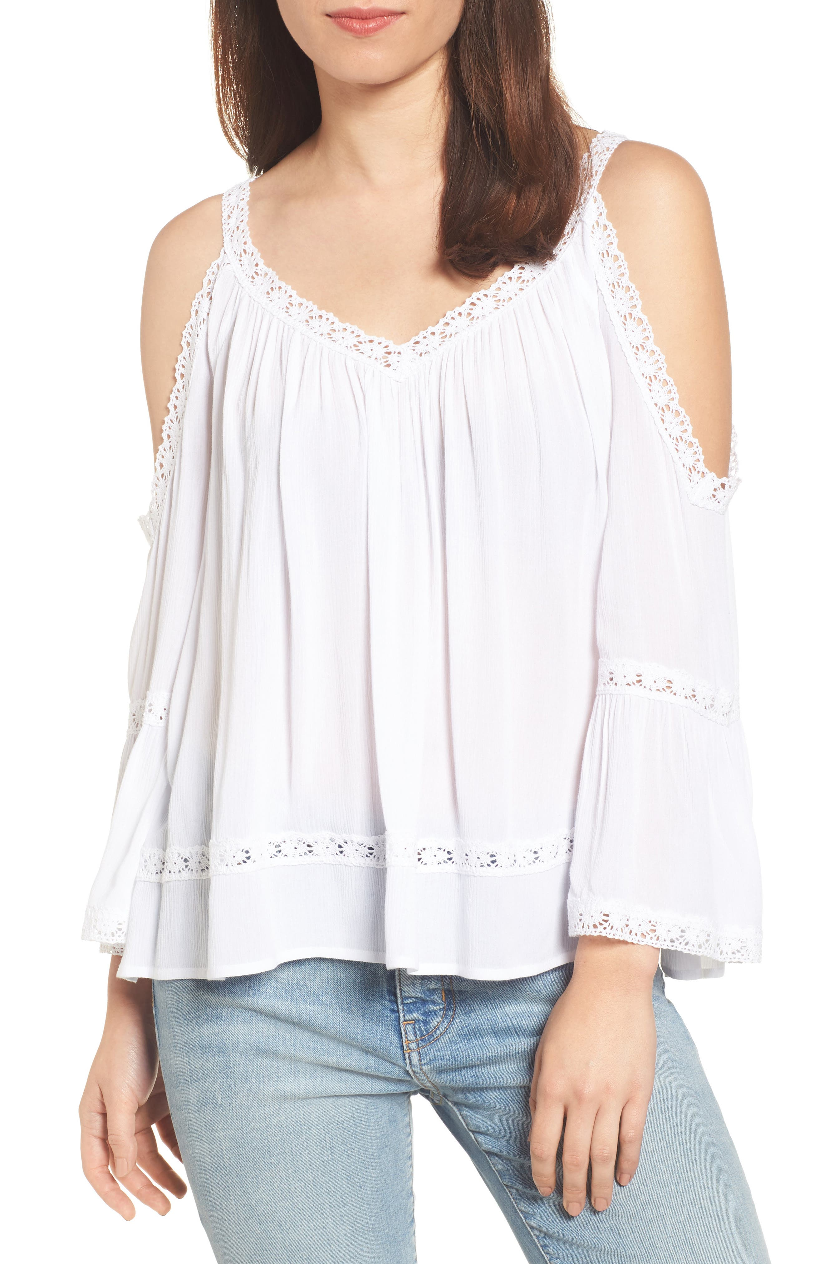 Cold Shoulder Top,                             Main thumbnail 1, color,