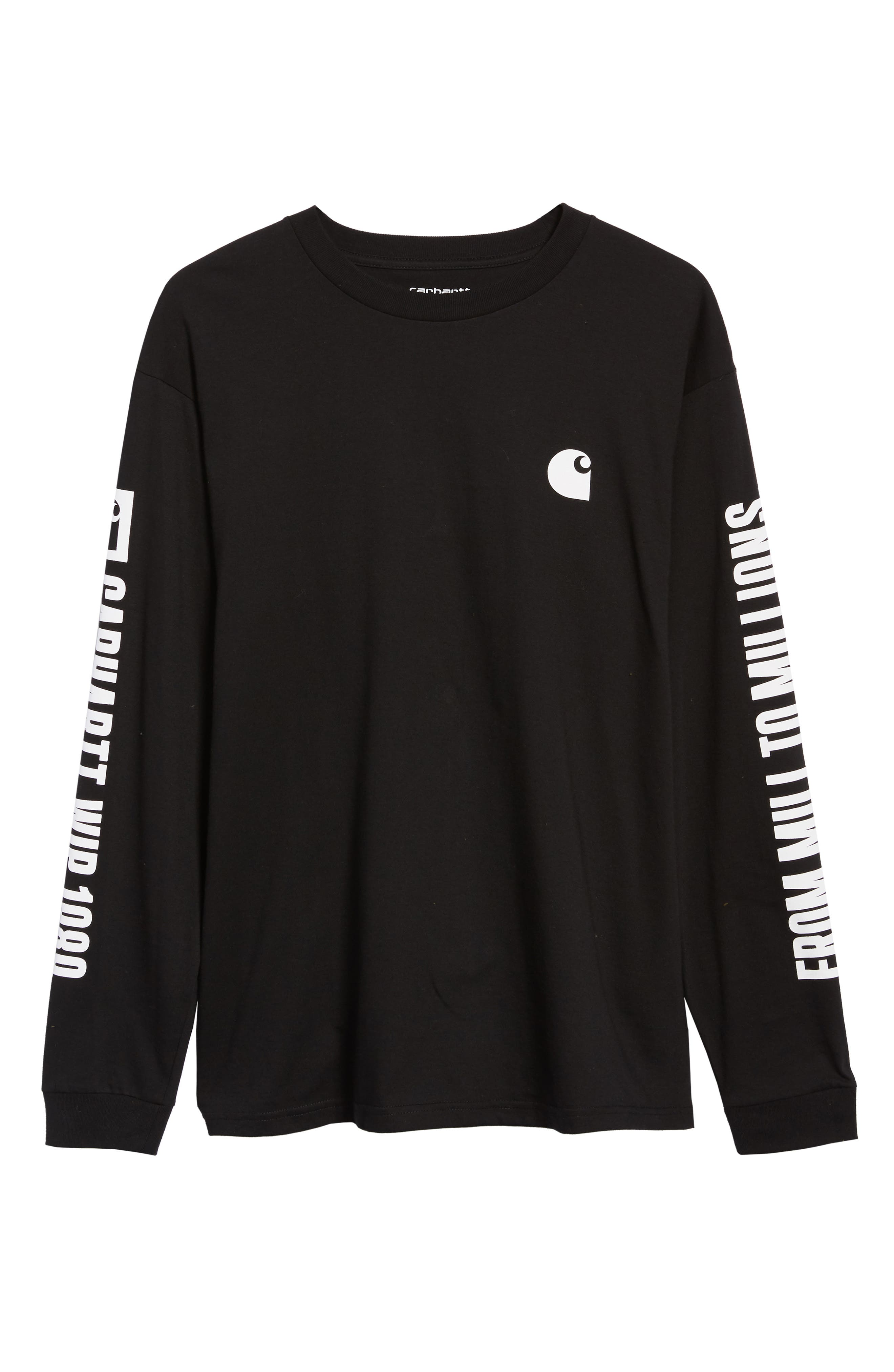 Long Sleeve 1989 T-Shirt,                             Alternate thumbnail 6, color,                             BLACK / WHITE