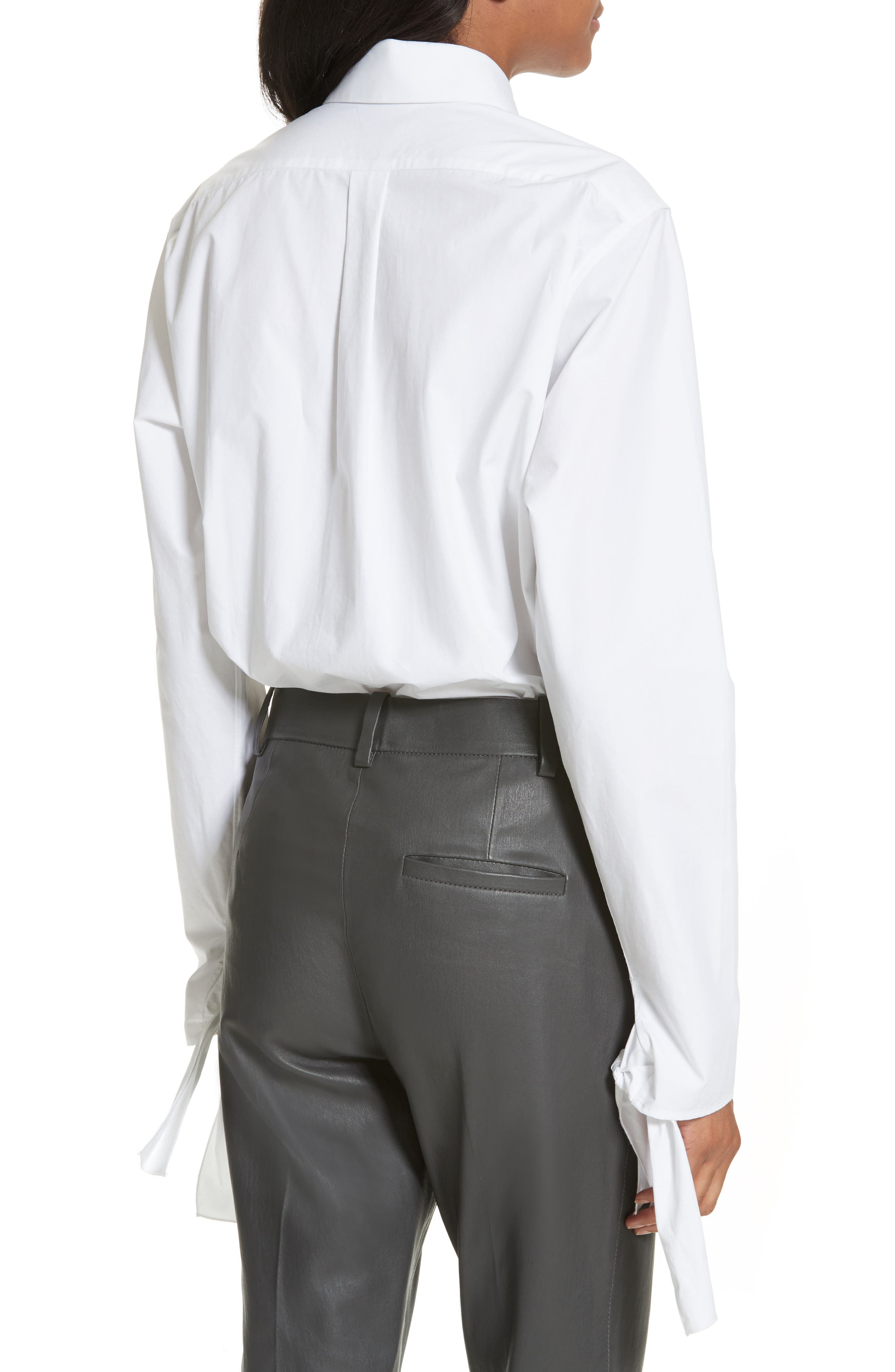 Tie Sleeve Shirt,                             Alternate thumbnail 2, color,                             100