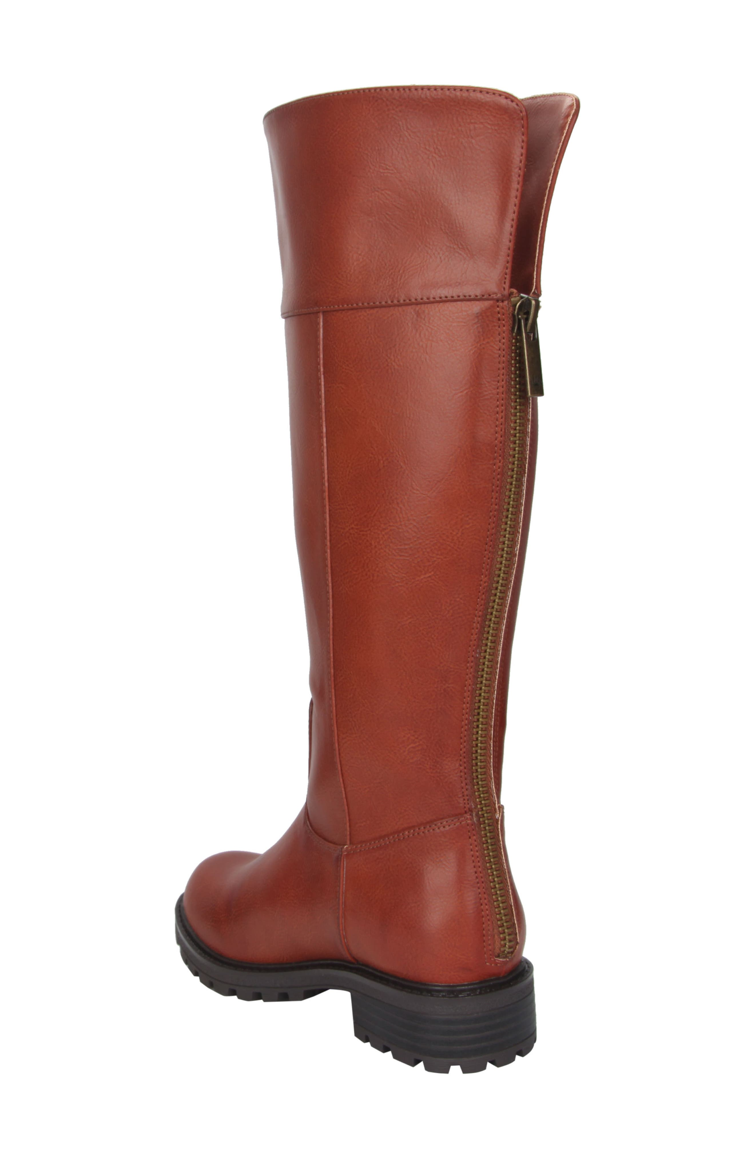 Nixie Tall Lugged Boot,                             Alternate thumbnail 4, color,