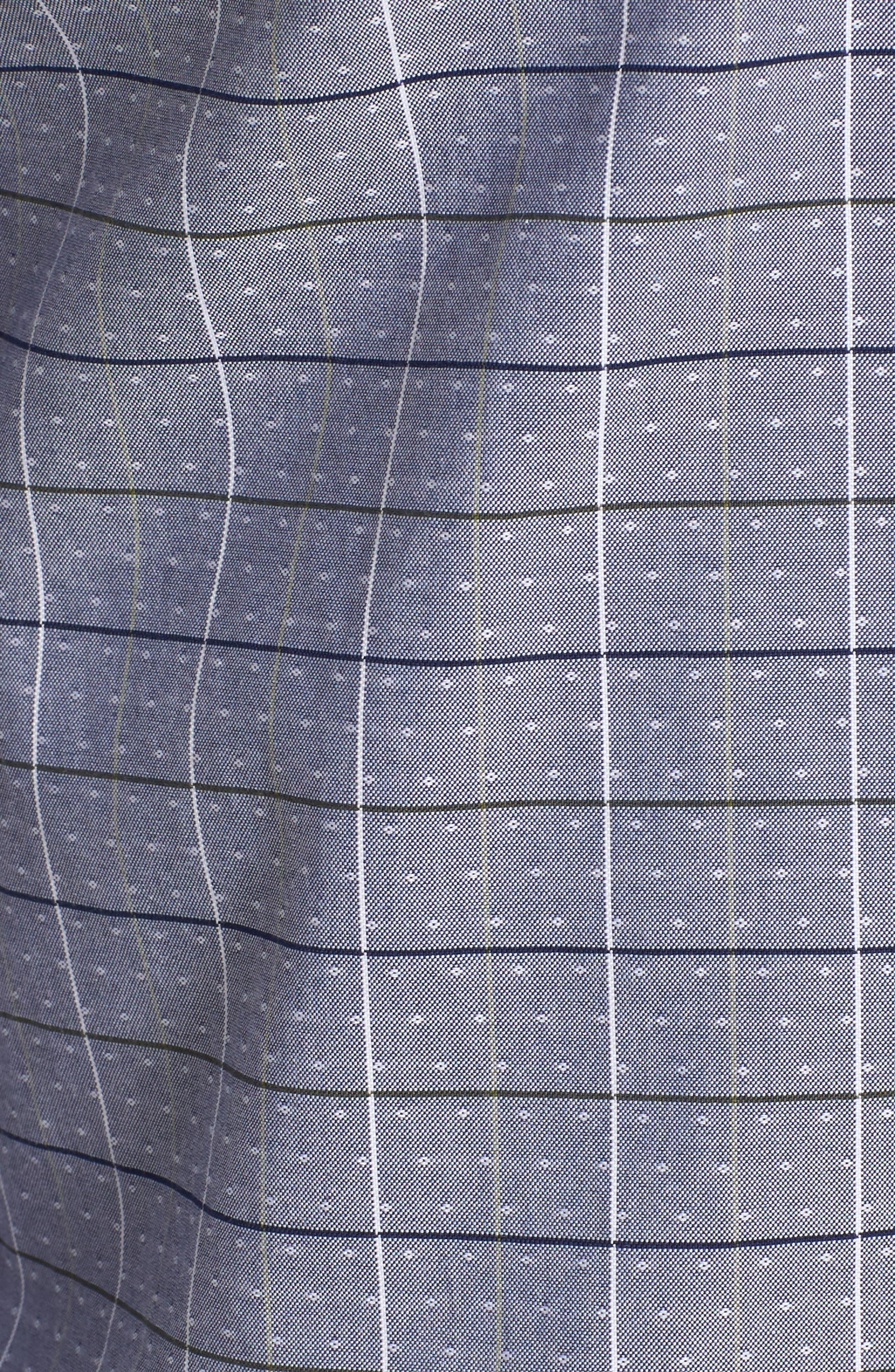 Ronni Slim Fit Check Sport Shirt,                             Alternate thumbnail 5, color,                             400