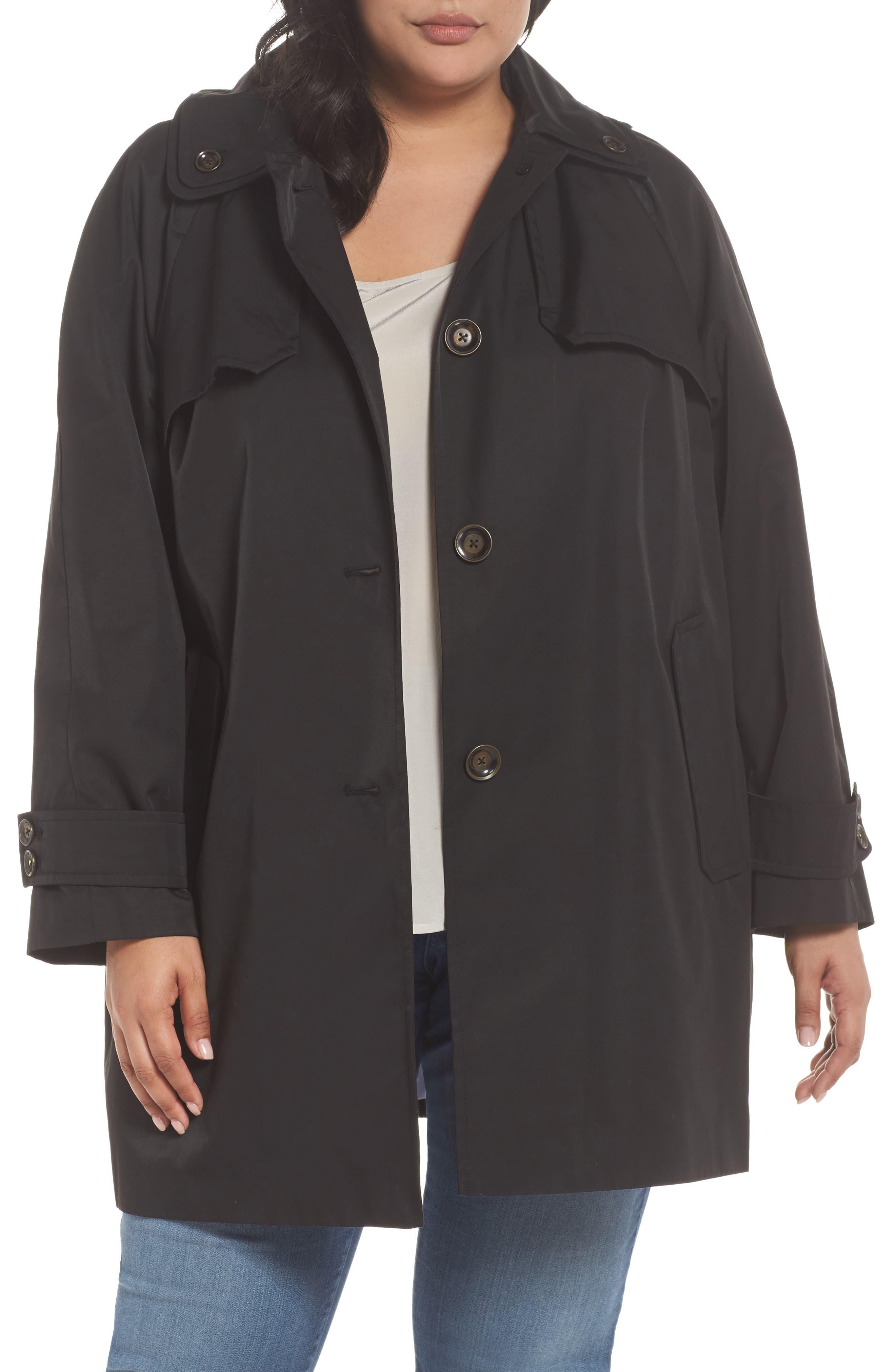 Removable Hood Rain Jacket,                             Main thumbnail 1, color,                             001