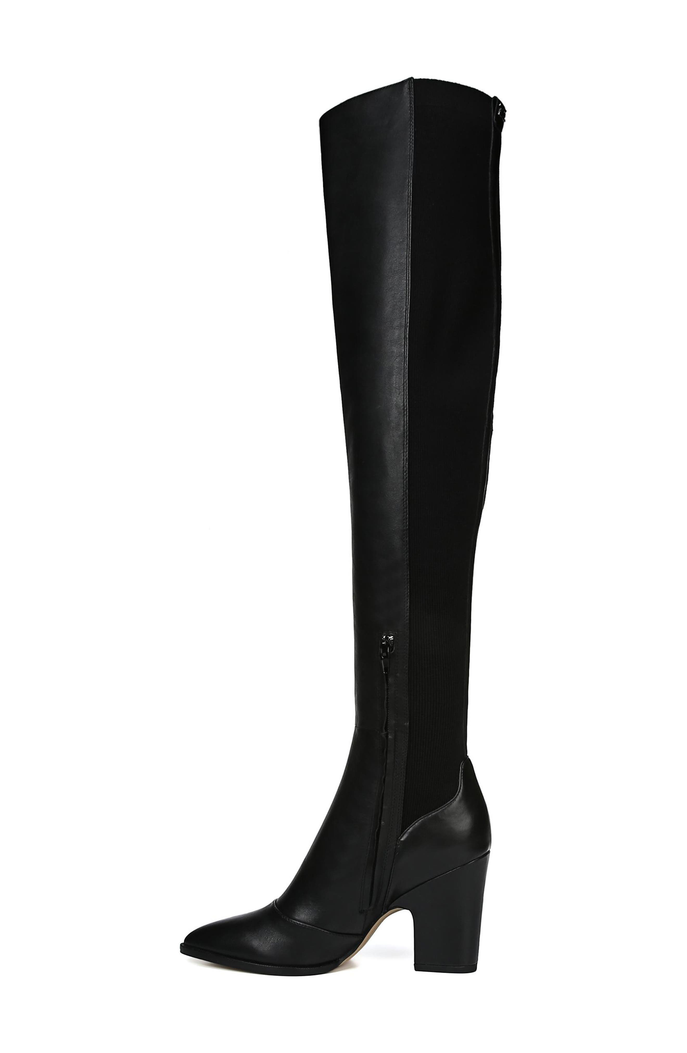Natasha Over the Knee Boot,                             Alternate thumbnail 8, color,                             BLACK LEATHER