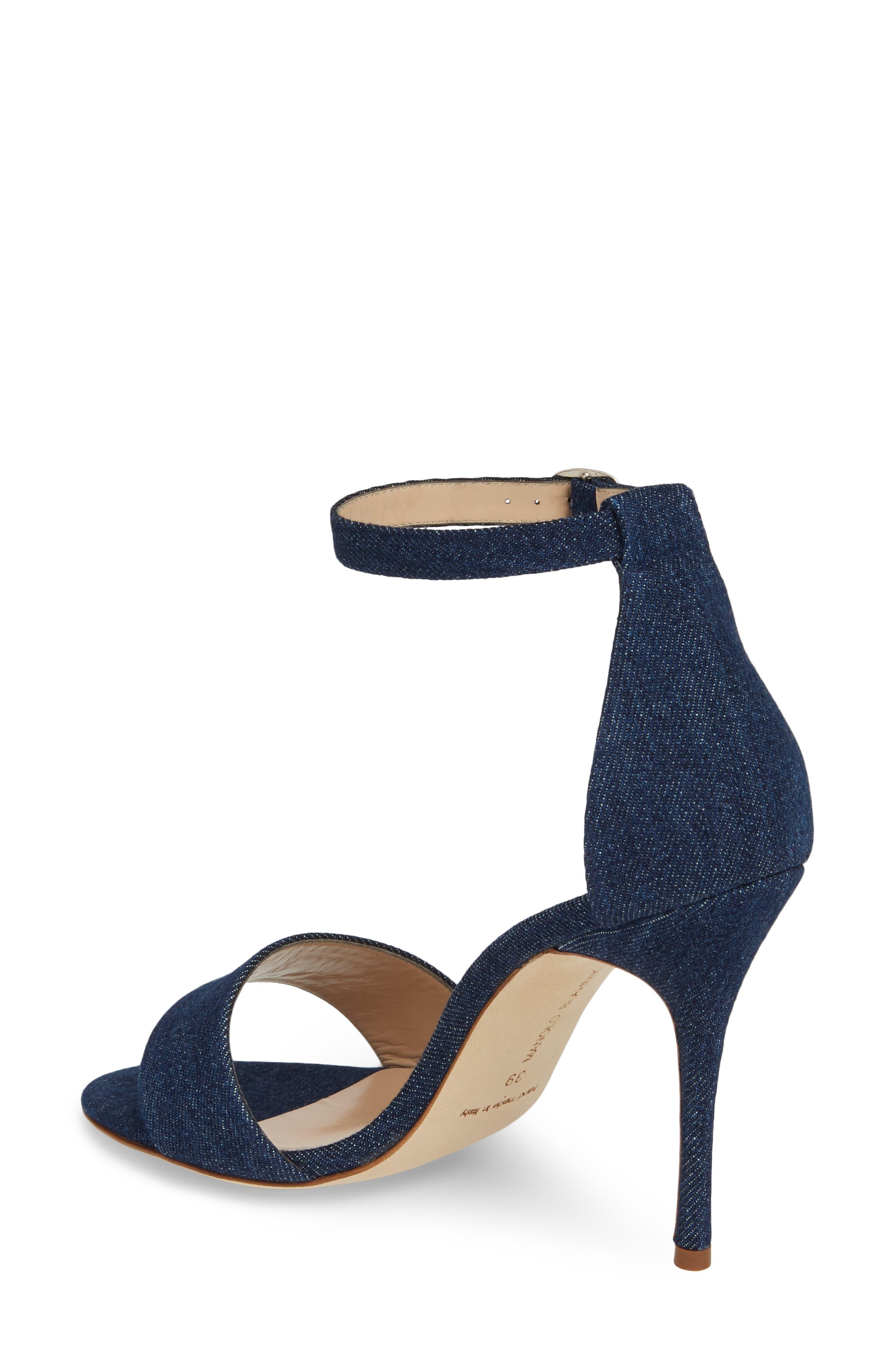 Tres Ankle Strap Sandal,                             Alternate thumbnail 2, color,                             DENIM BLUE