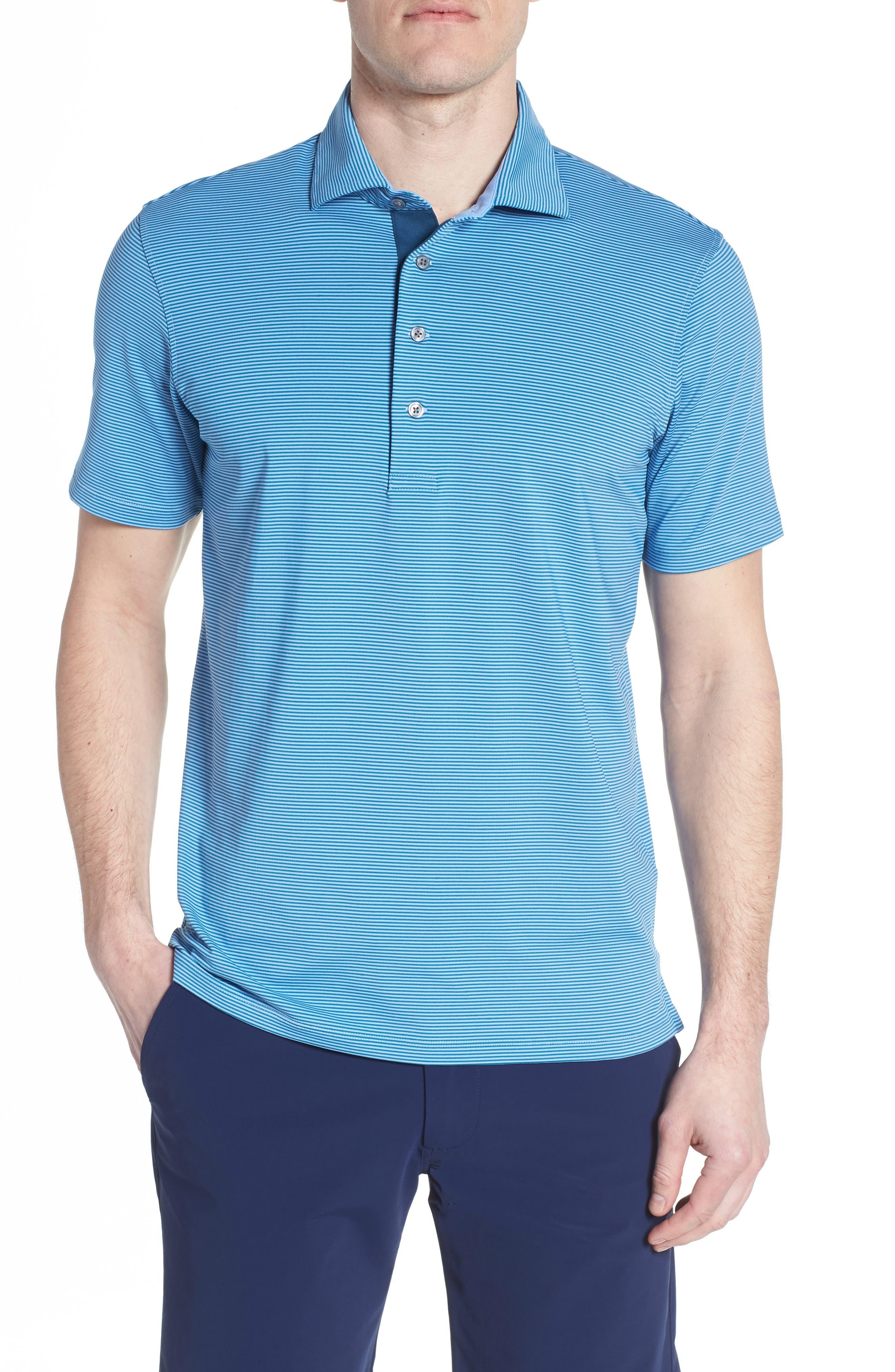 Saranac Airflow Jersey Polo,                         Main,                         color, ICE/ CAYMEN