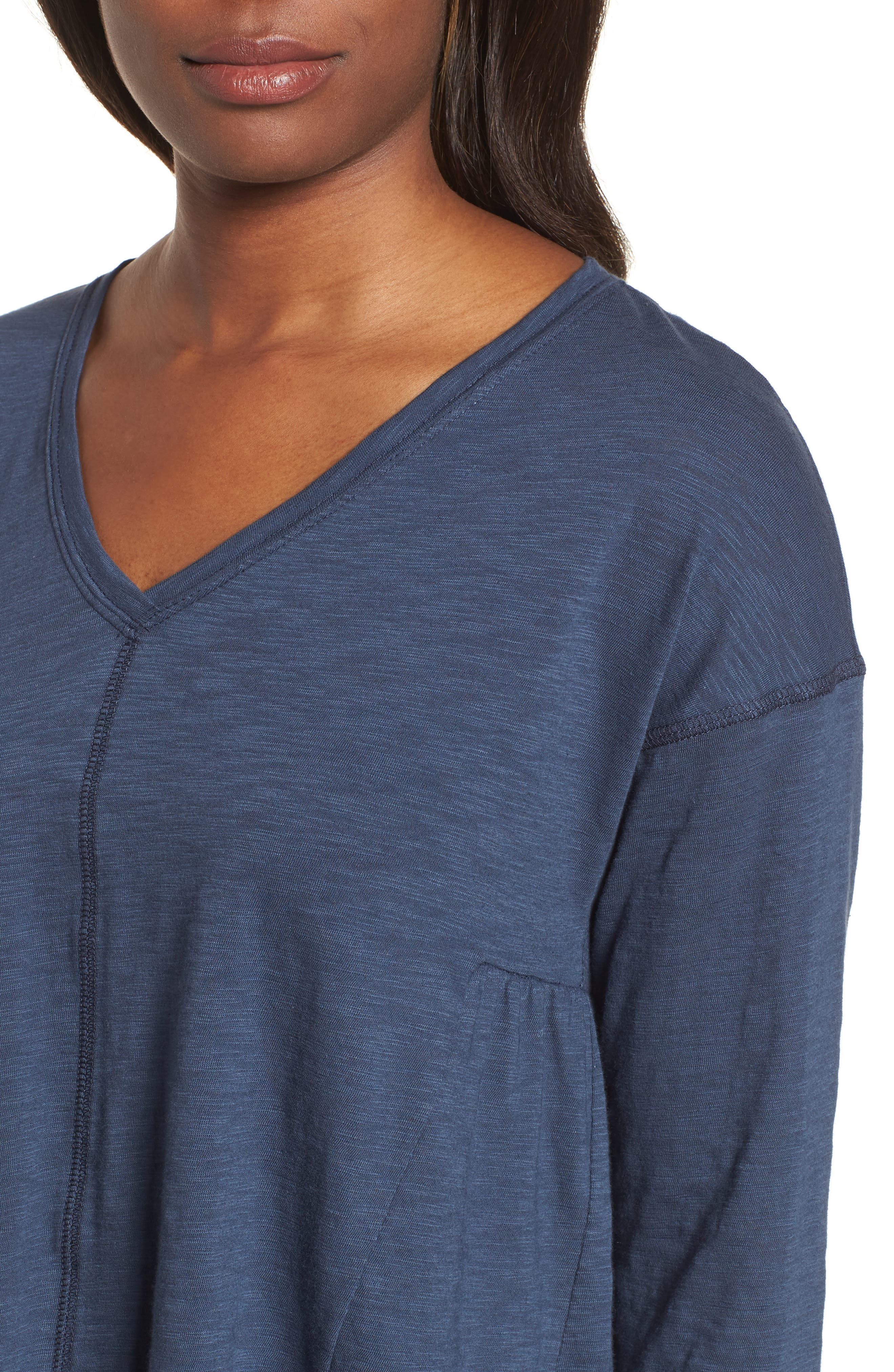 Off-Duty Cotton Three-Quarter Sleeve Tee,                             Alternate thumbnail 9, color,