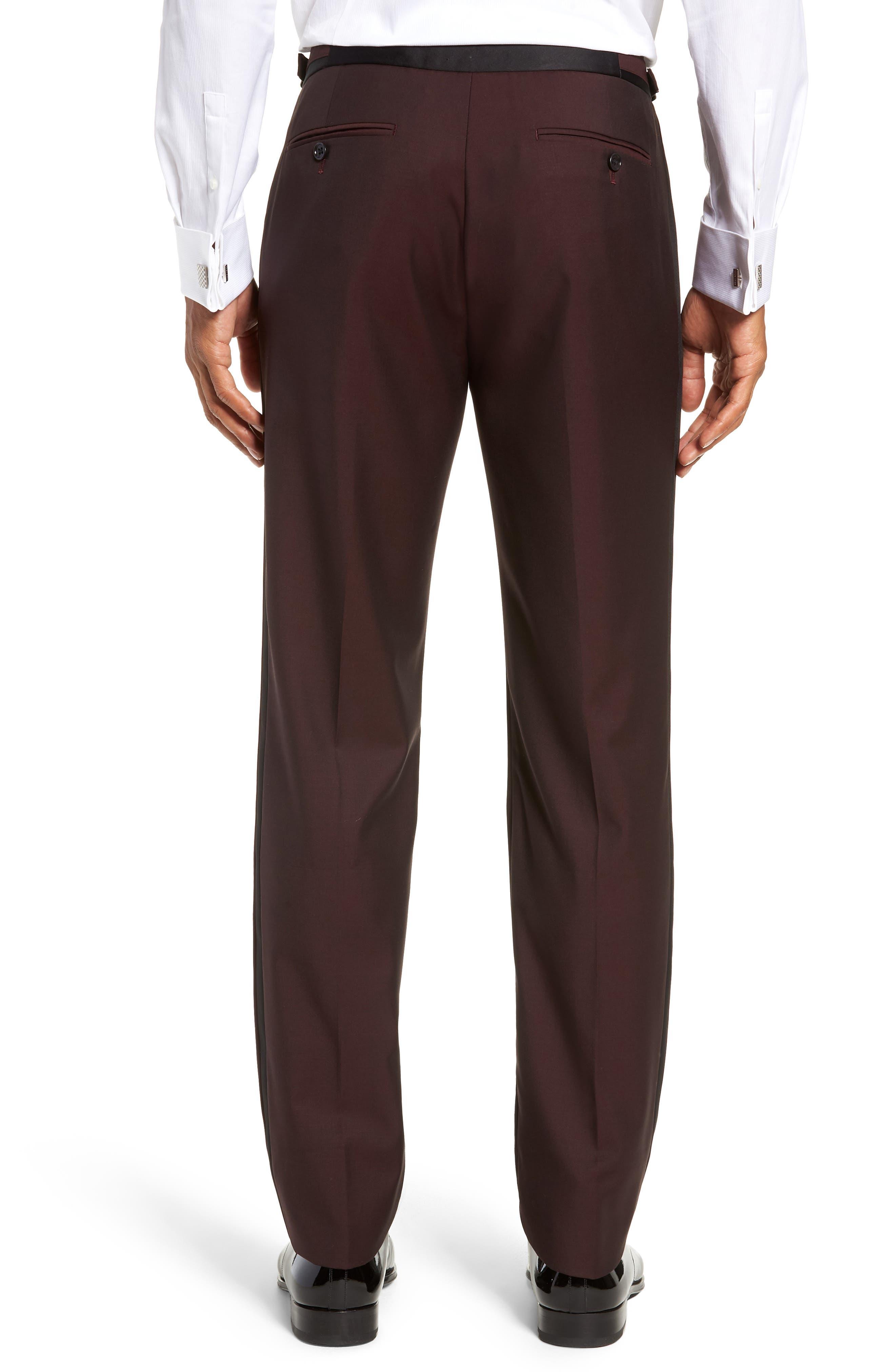 Capstone Slim Fit Tuxedo Trousers,                             Alternate thumbnail 2, color,                             MAROON