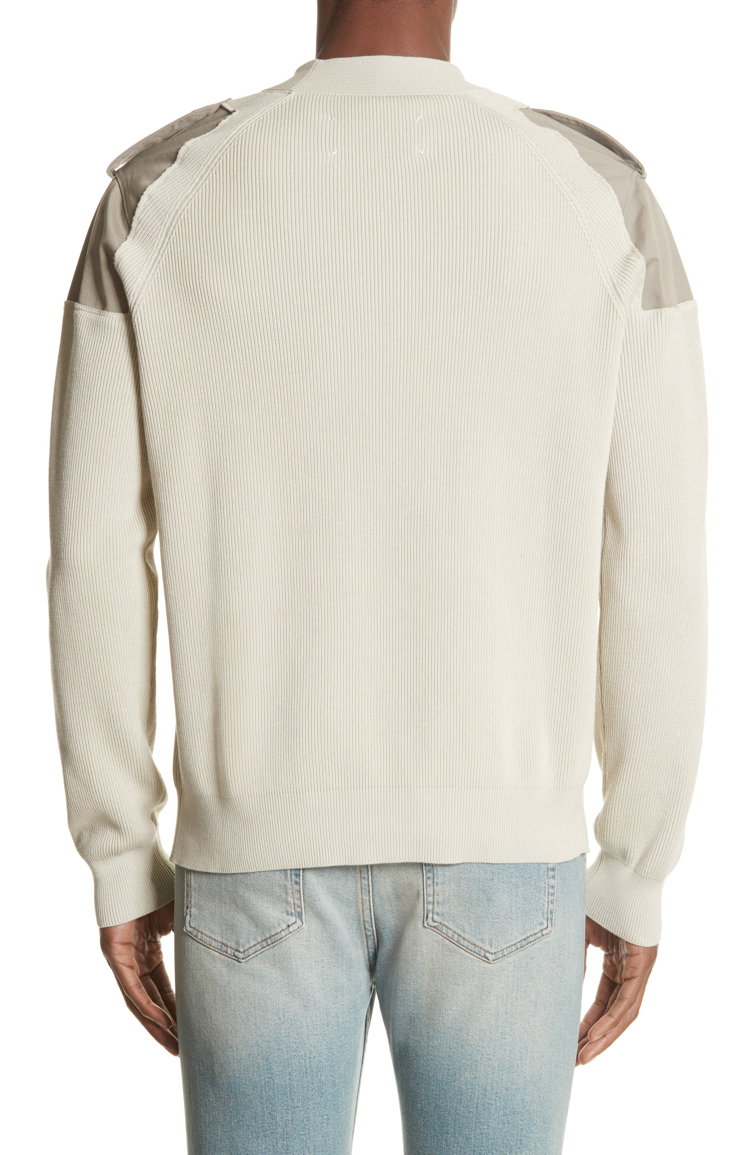 Two-Tone Military Sweater,                             Alternate thumbnail 2, color,                             242