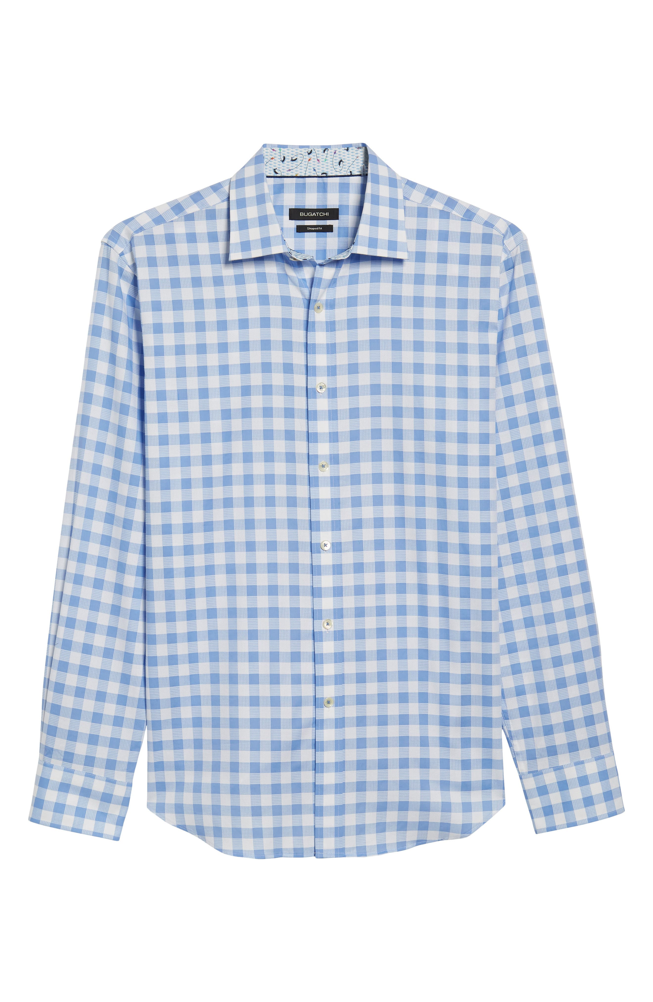 Shaped Fit Check Sport Shirt,                             Alternate thumbnail 6, color,                             459