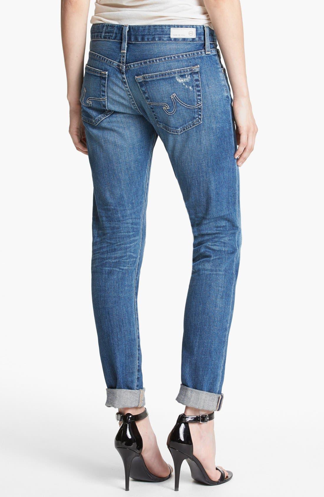 AG,                             'Nikki' Relaxed Skinny Jeans,                             Alternate thumbnail 3, color,                             453