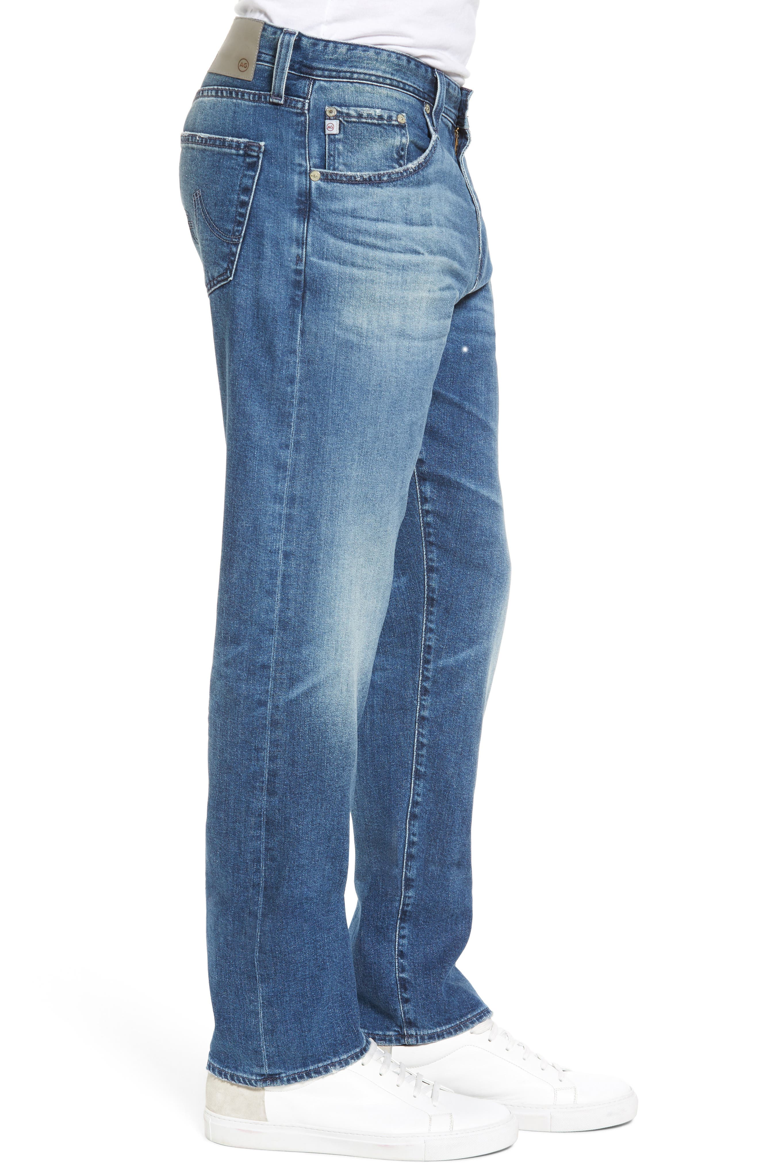 Ives Straight Fit Jeans,                             Alternate thumbnail 3, color,                             468