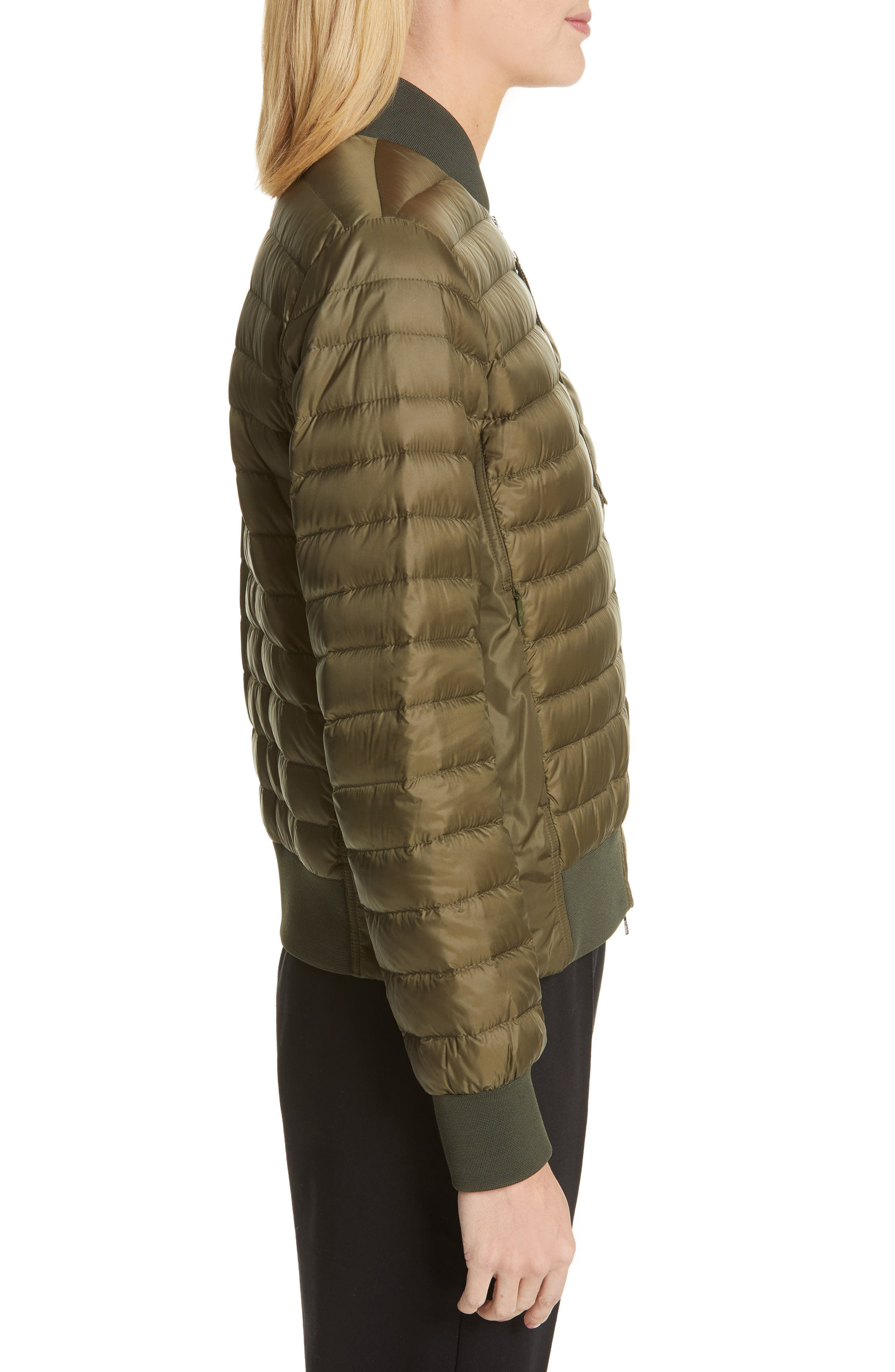 MONCLER,                             Rome Quilted Down Jacket,                             Alternate thumbnail 4, color,                             DARK GREEN