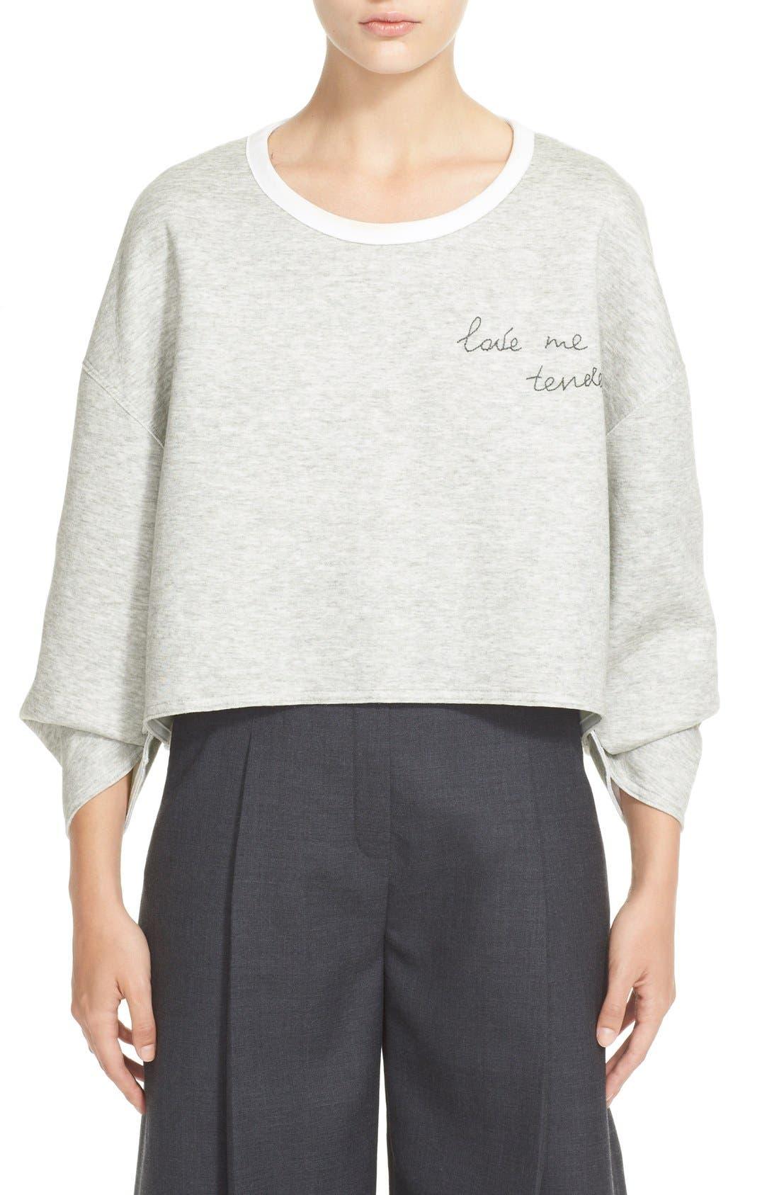 'Love Me Tender' Sweatshirt, Main, color, 020