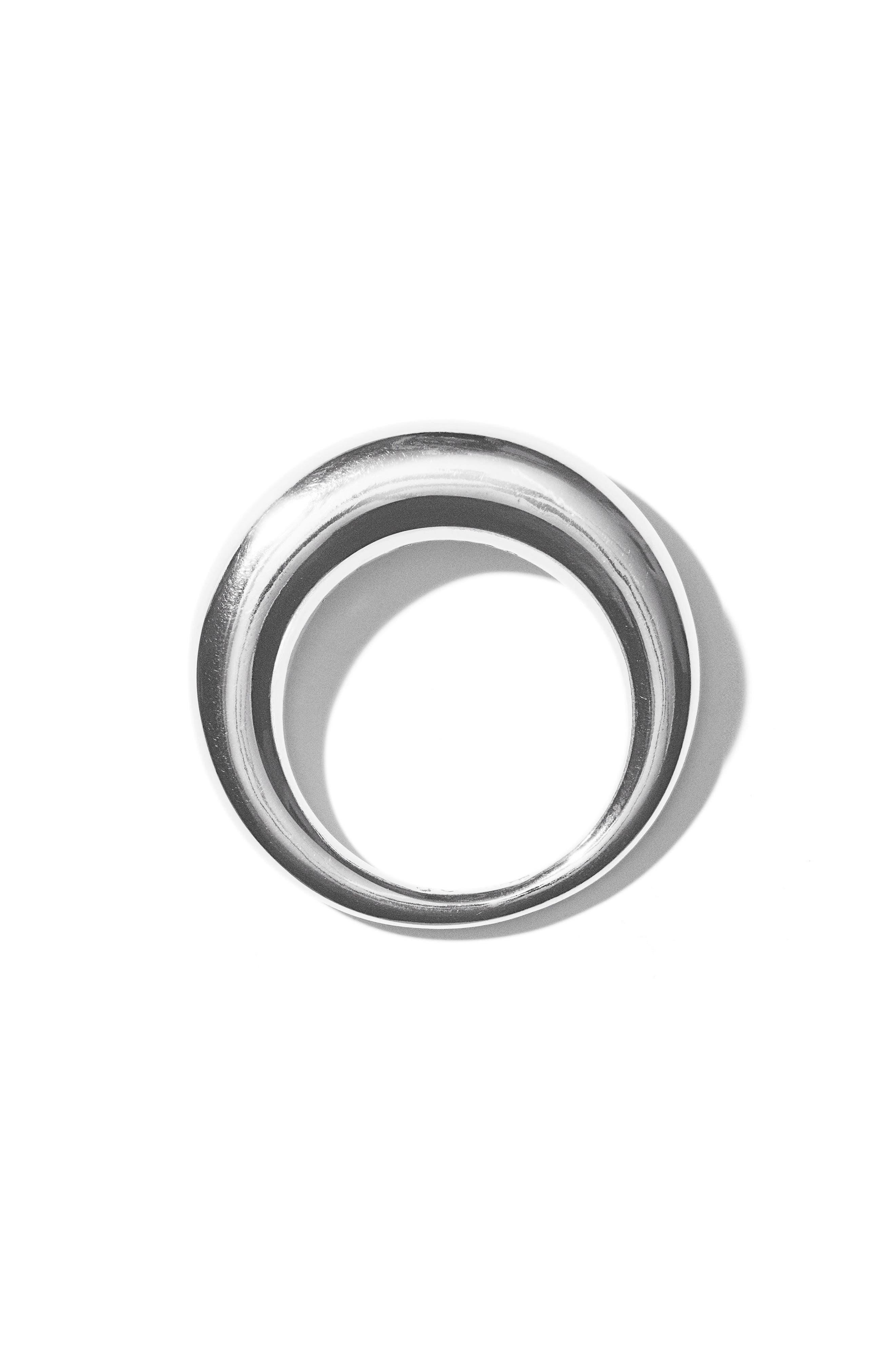 Large Snake Polished Silver Ring,                             Alternate thumbnail 2, color,                             POLISHED SILVER