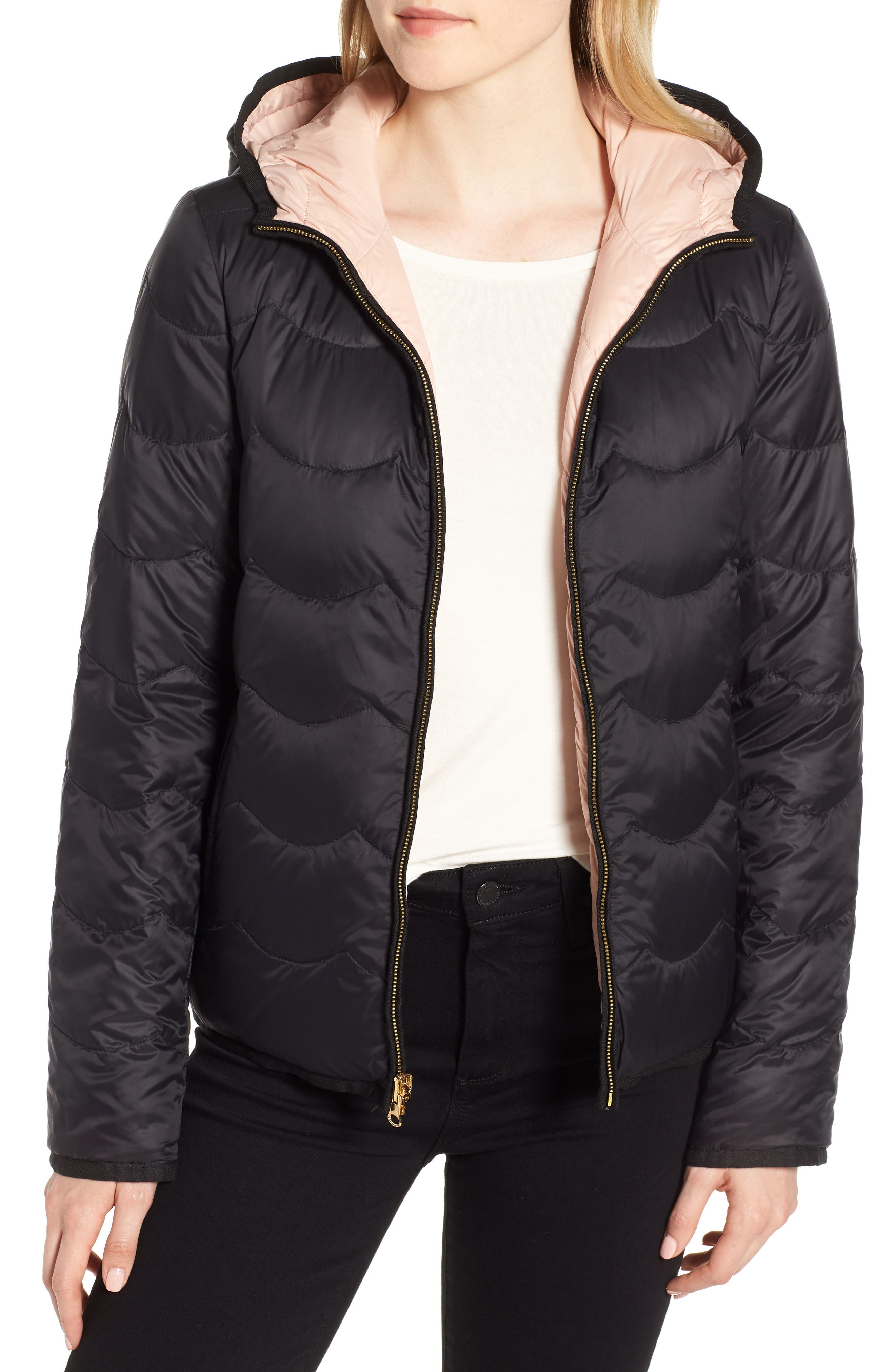 reversible quilted down jacket,                             Alternate thumbnail 2, color,                             001