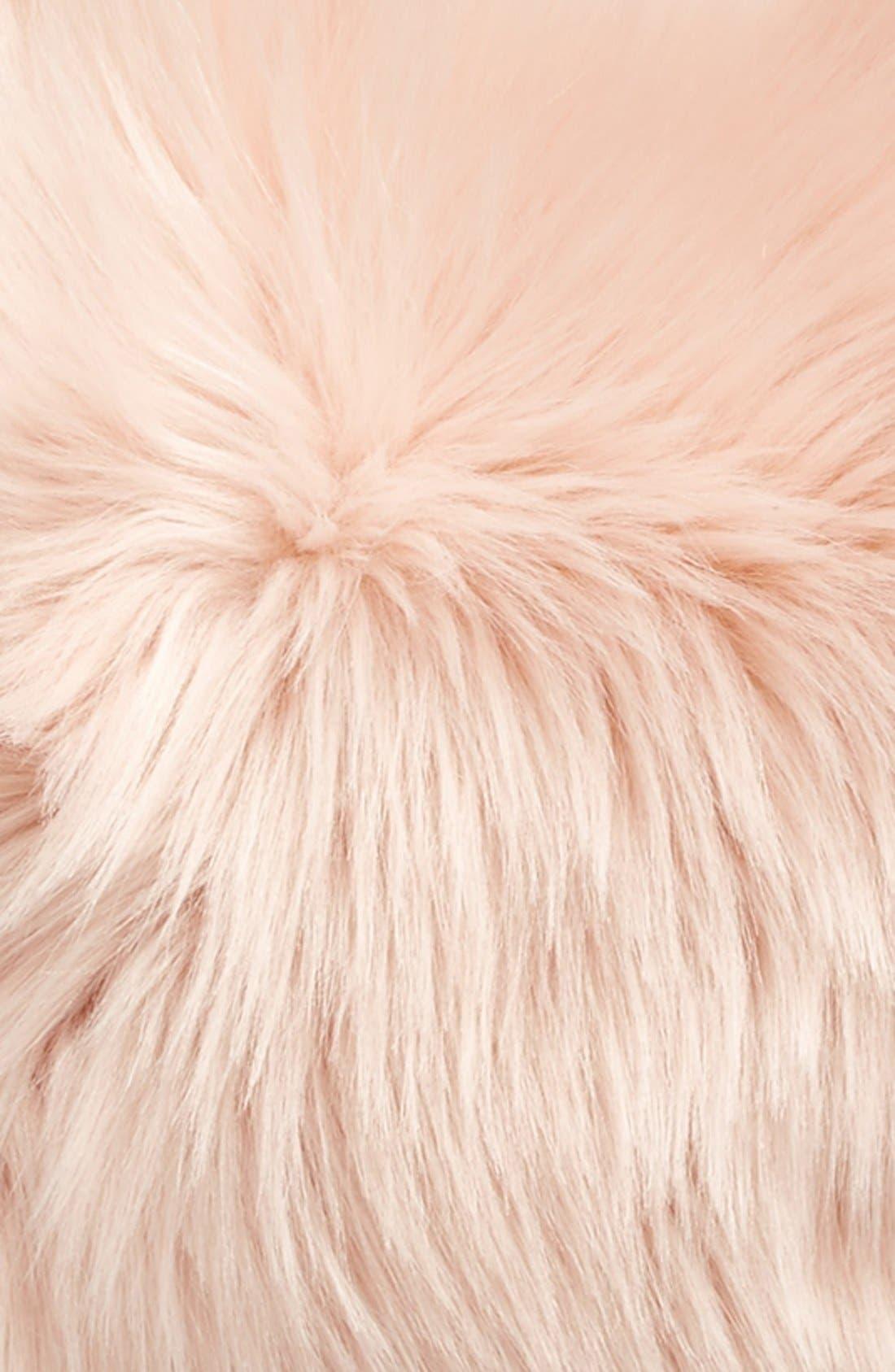 'Sumptuous' Faux Fur Accent Pillow,                             Alternate thumbnail 6, color,                             ROSE