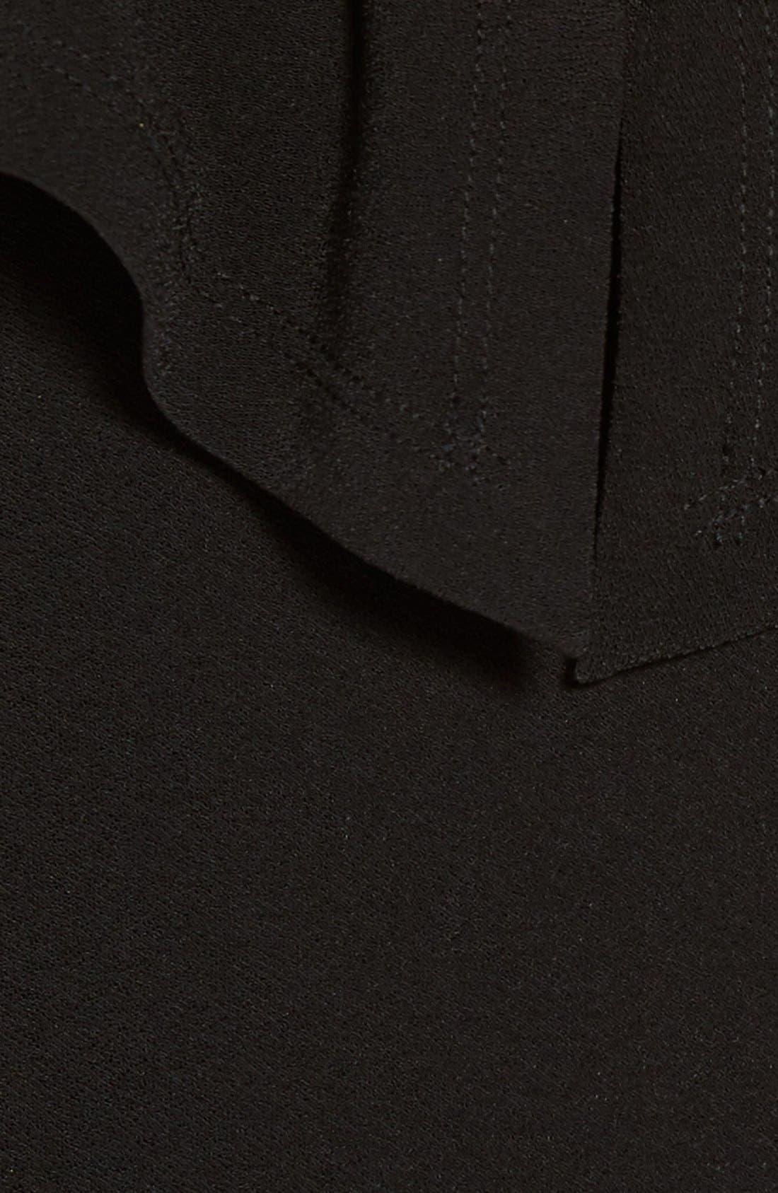 LEITH,                             Cape Overlay Bodysuit,                             Alternate thumbnail 4, color,                             001