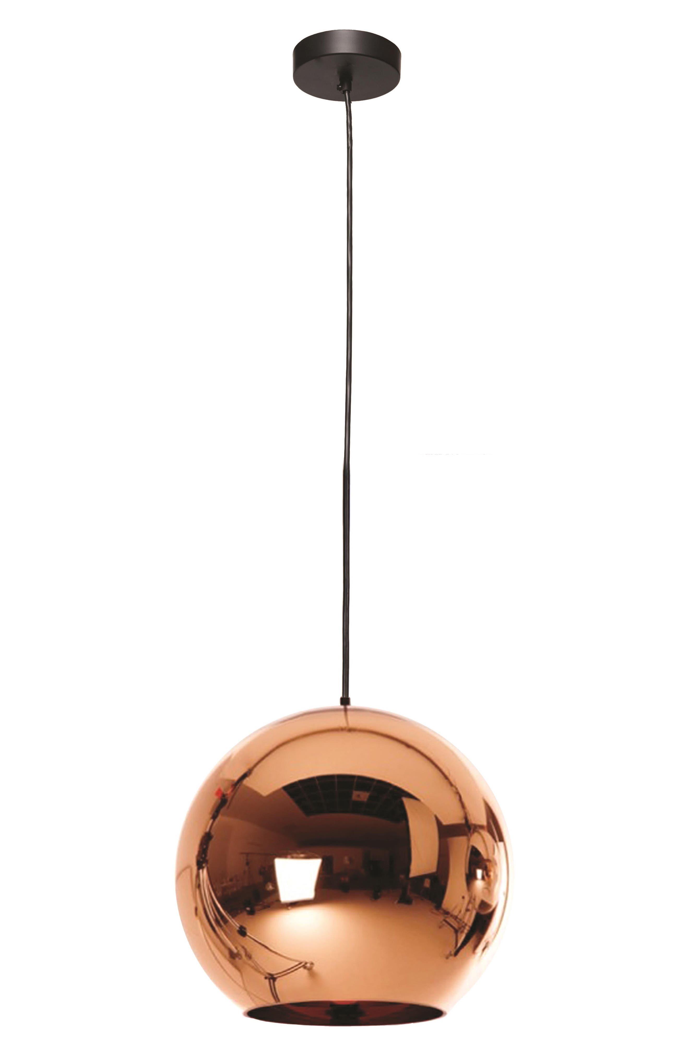 Copper Ceiling Light Fixture,                             Main thumbnail 1, color,                             COPPER